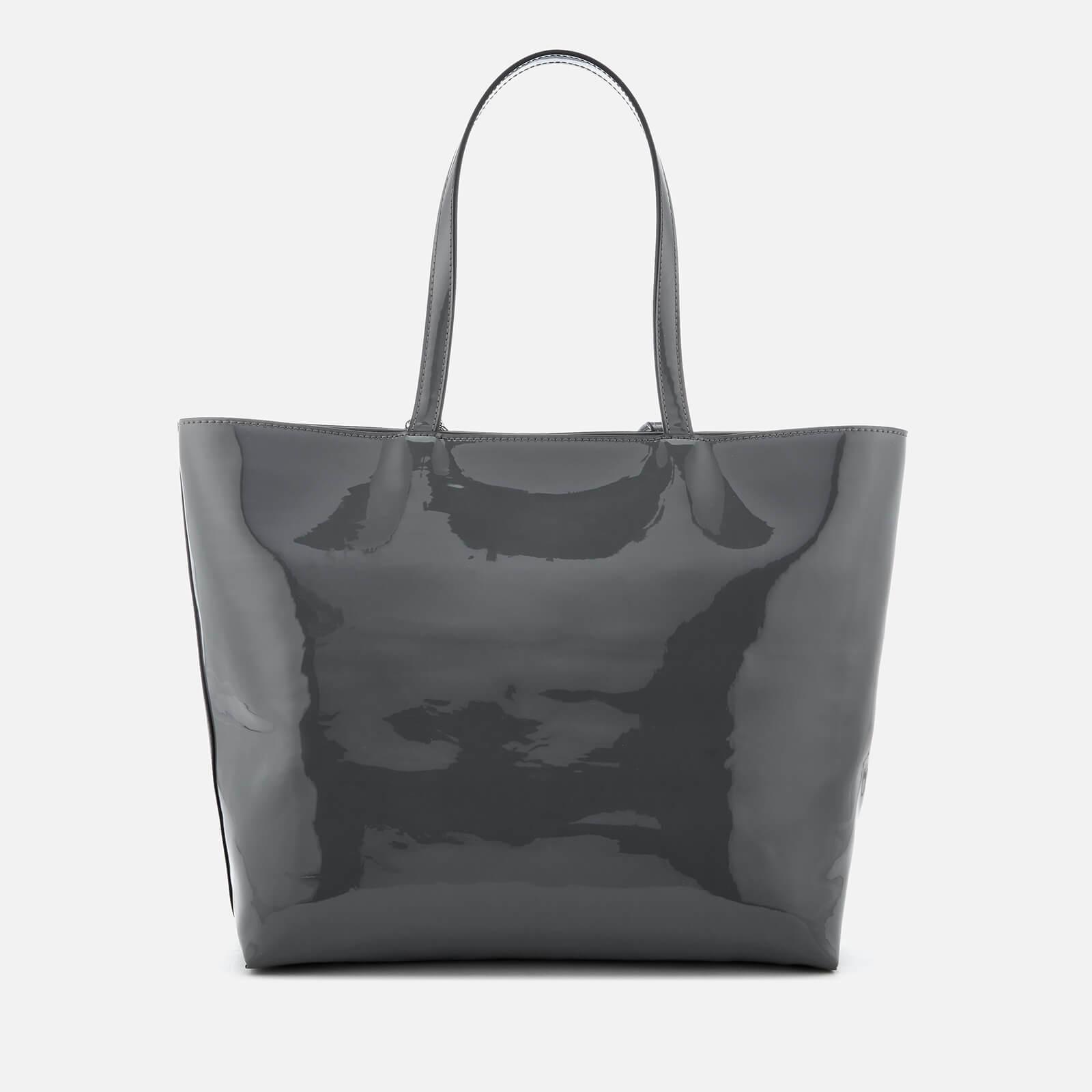 2c6d6d59eb Lyst - Armani Exchange Patent Logo Tote Bag in Black