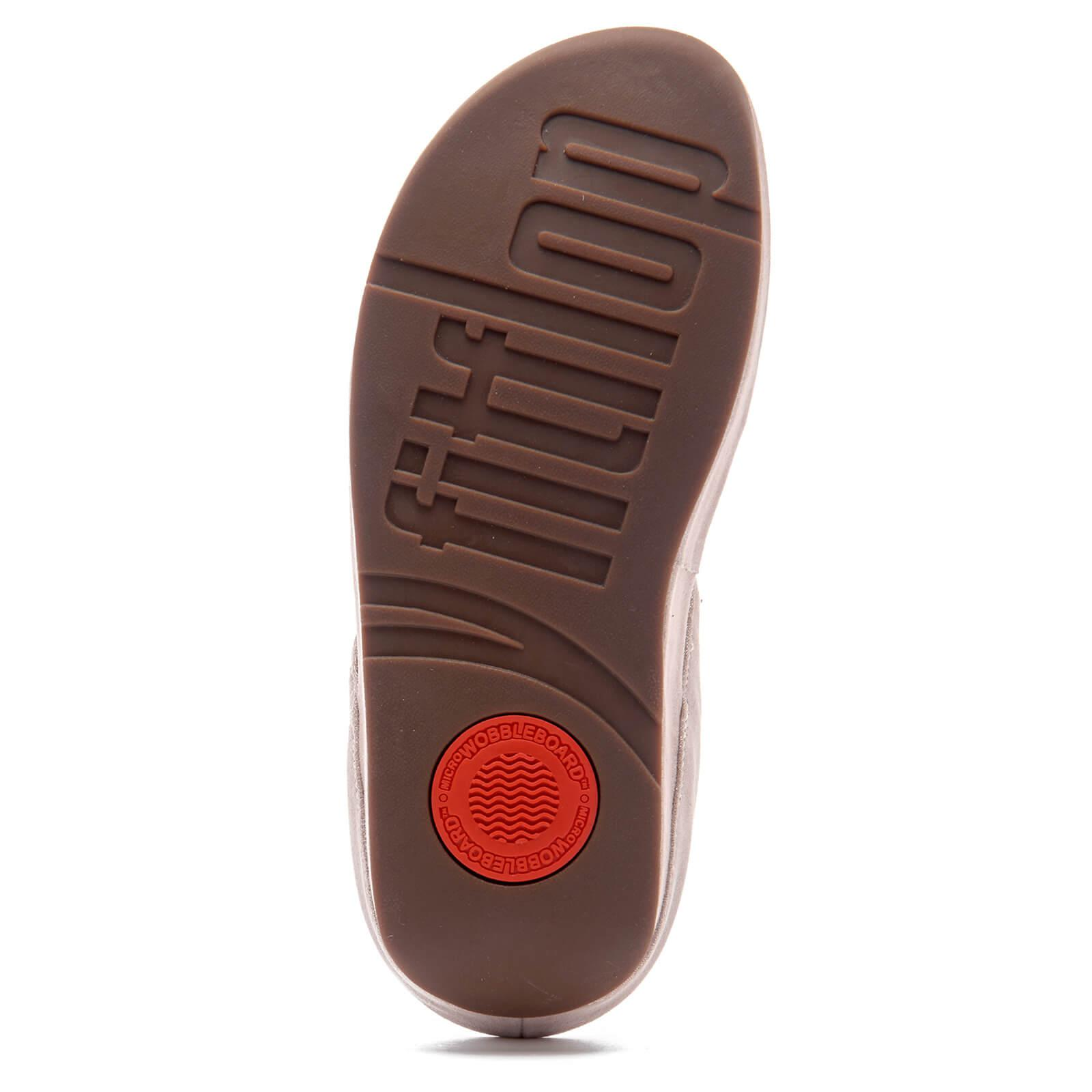 9a48da63f Lyst - Fitflop Cha Cha Leather/suede Tassel Toe-post Sandals in Metallic
