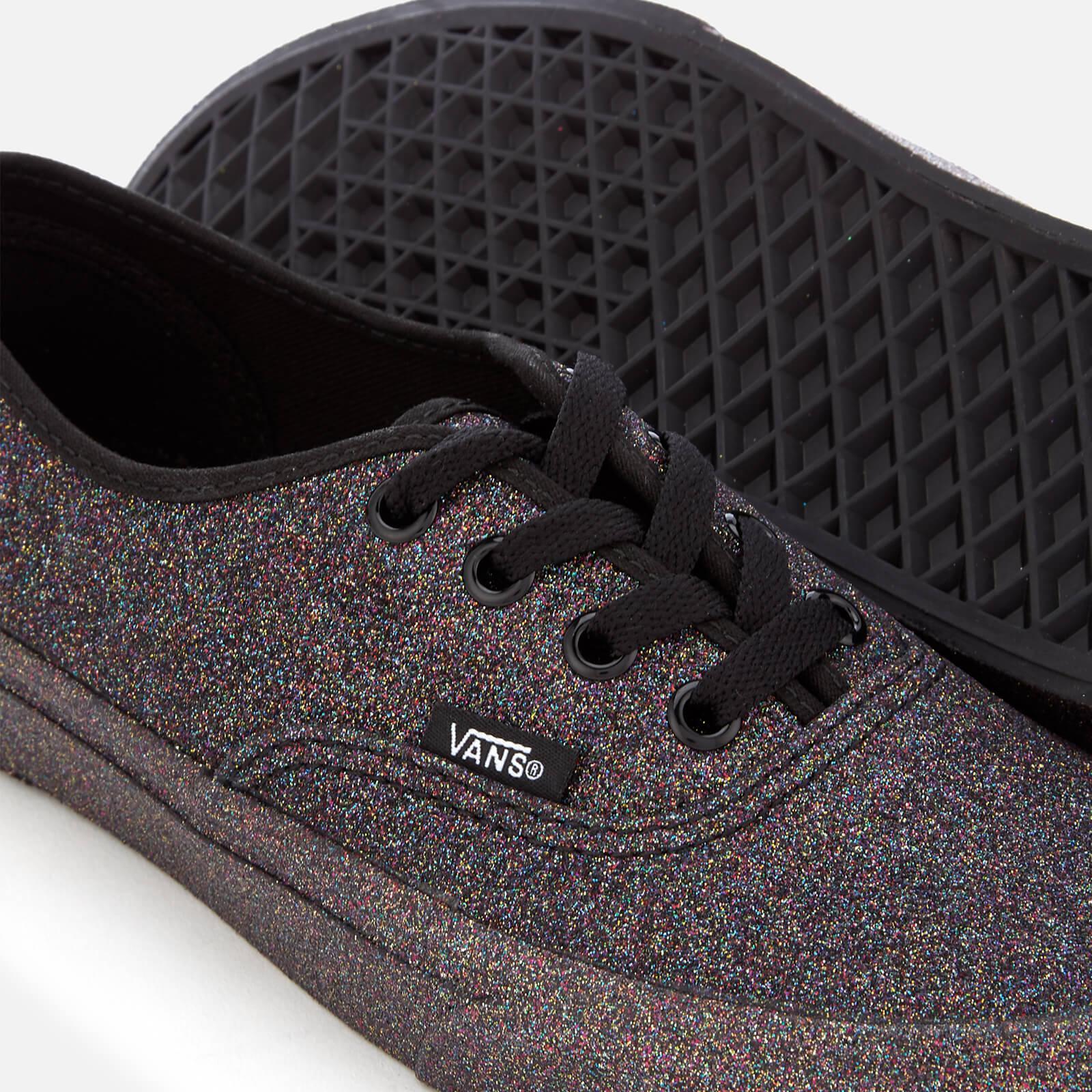 Lyst - Vans Women s Rainbow Glitter Authentic Trainers in Black 0d0ea6500