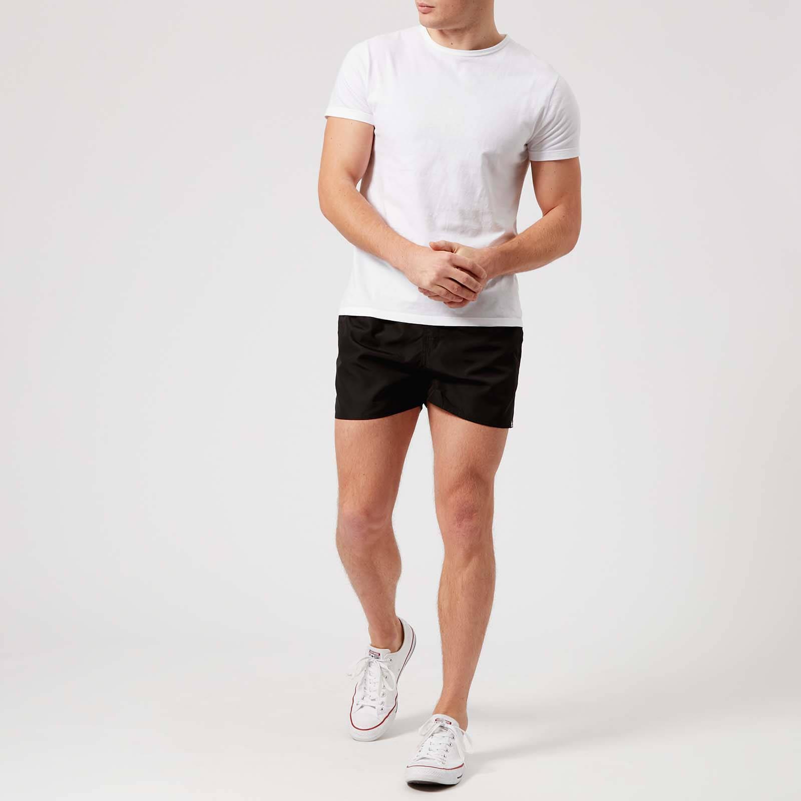 4b18fa3c39 Adidas - Black 3 Stripe Vsl Swim Shorts for Men - Lyst. View fullscreen