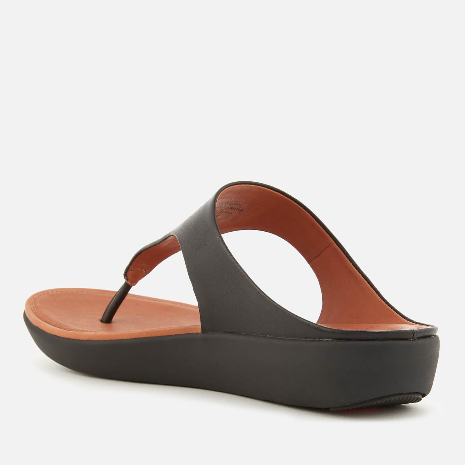 b54f93c8c Fitflop - Black Banda Ii Leather Toe Post Sandals - Lyst. View fullscreen