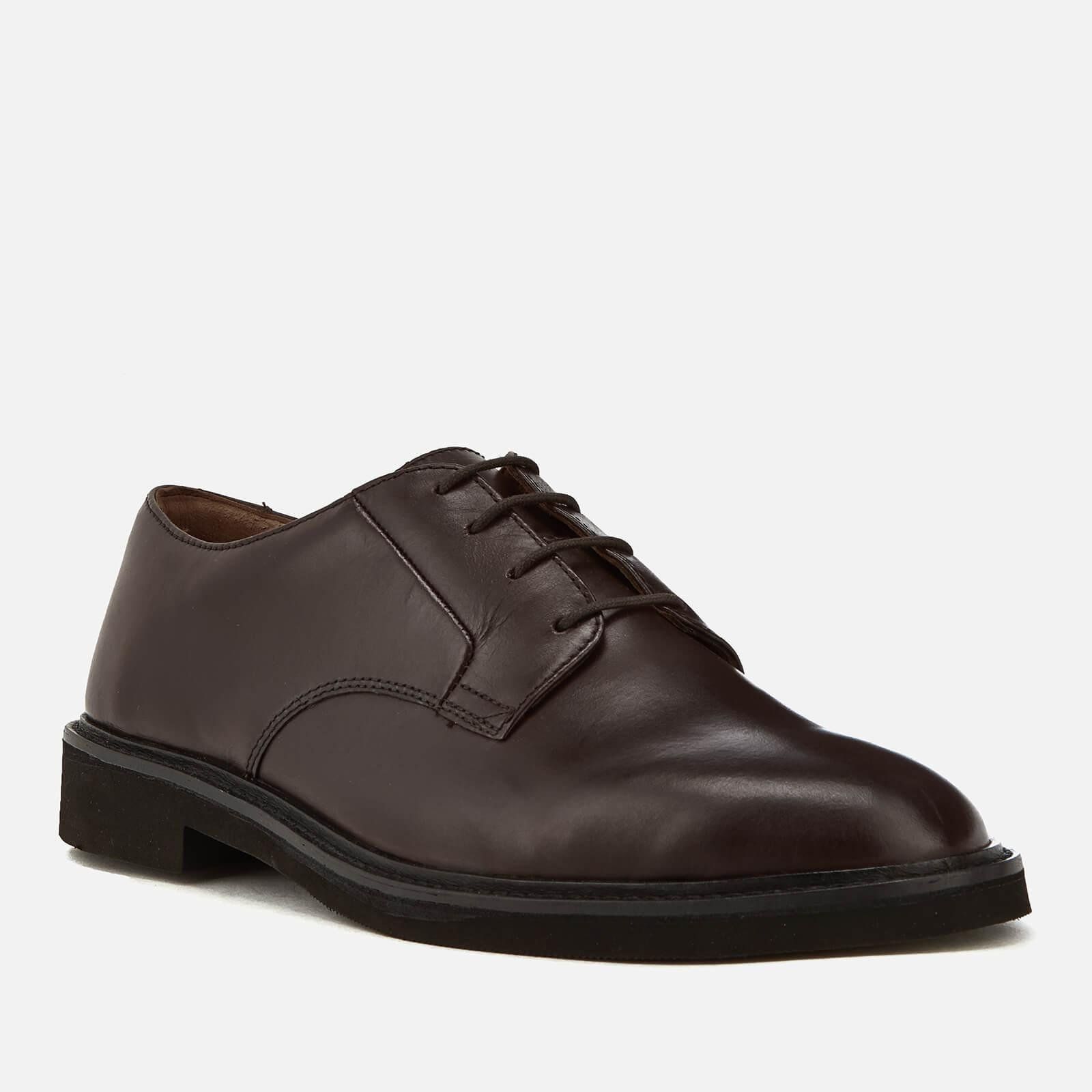 H by Hudson Ives Leather Light Derby Shoes in Brown for Men