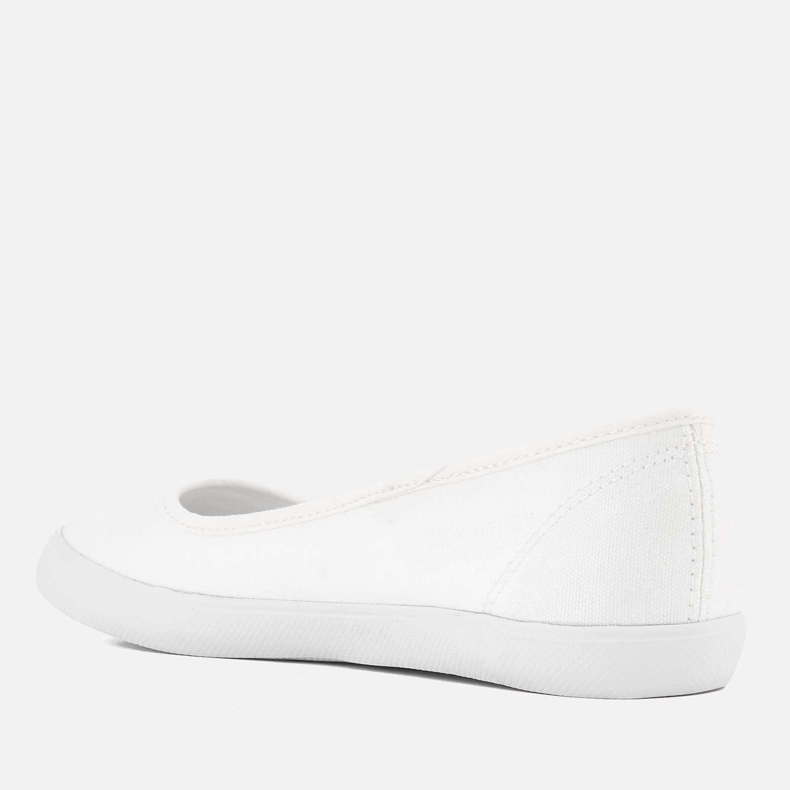 the sale of shoes top design look for Lacoste Marthe Bl 1 Canvas Ballet Pumps in White - Lyst