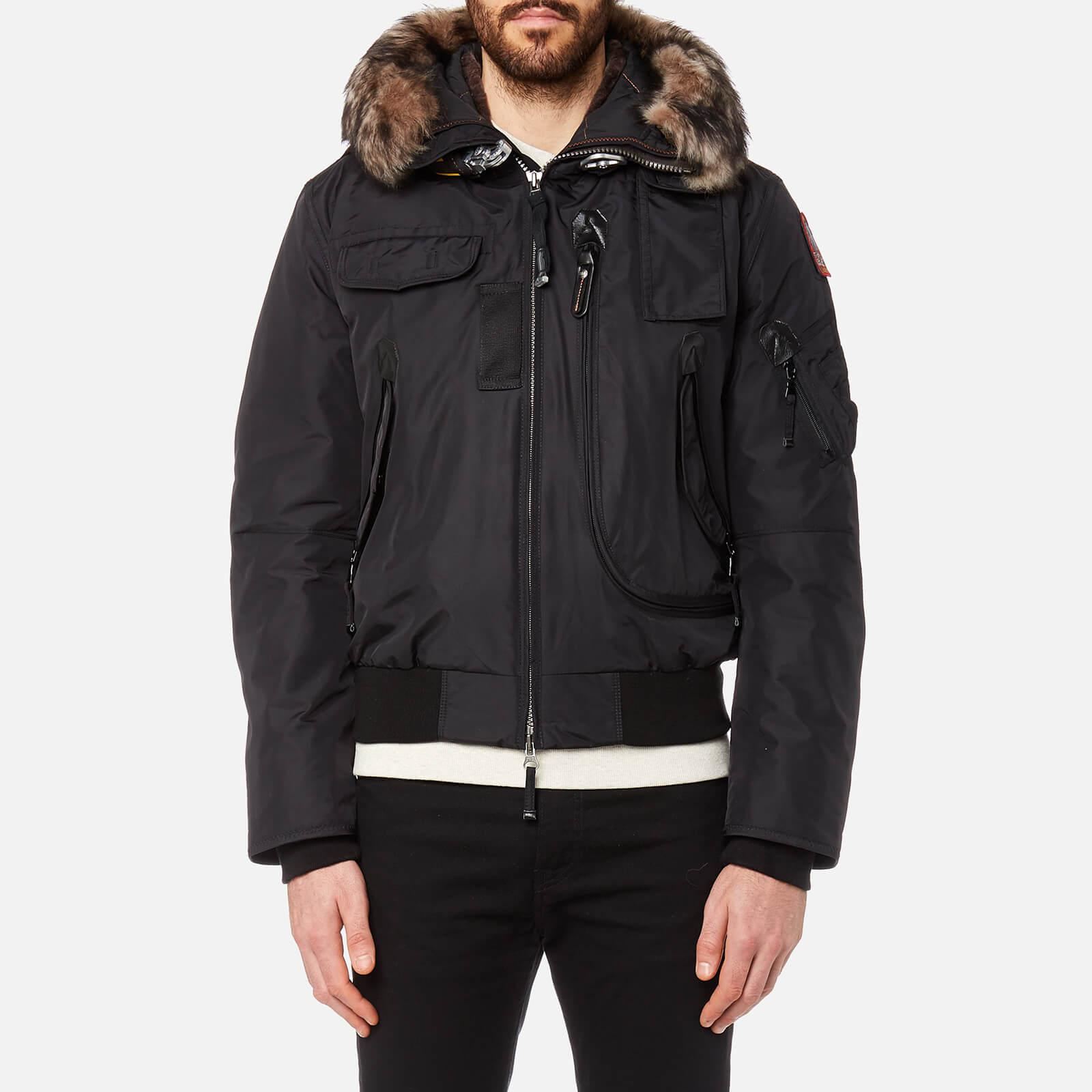 Parajumpers. Men's Black Gobi Faux Fur Bomber Jacket