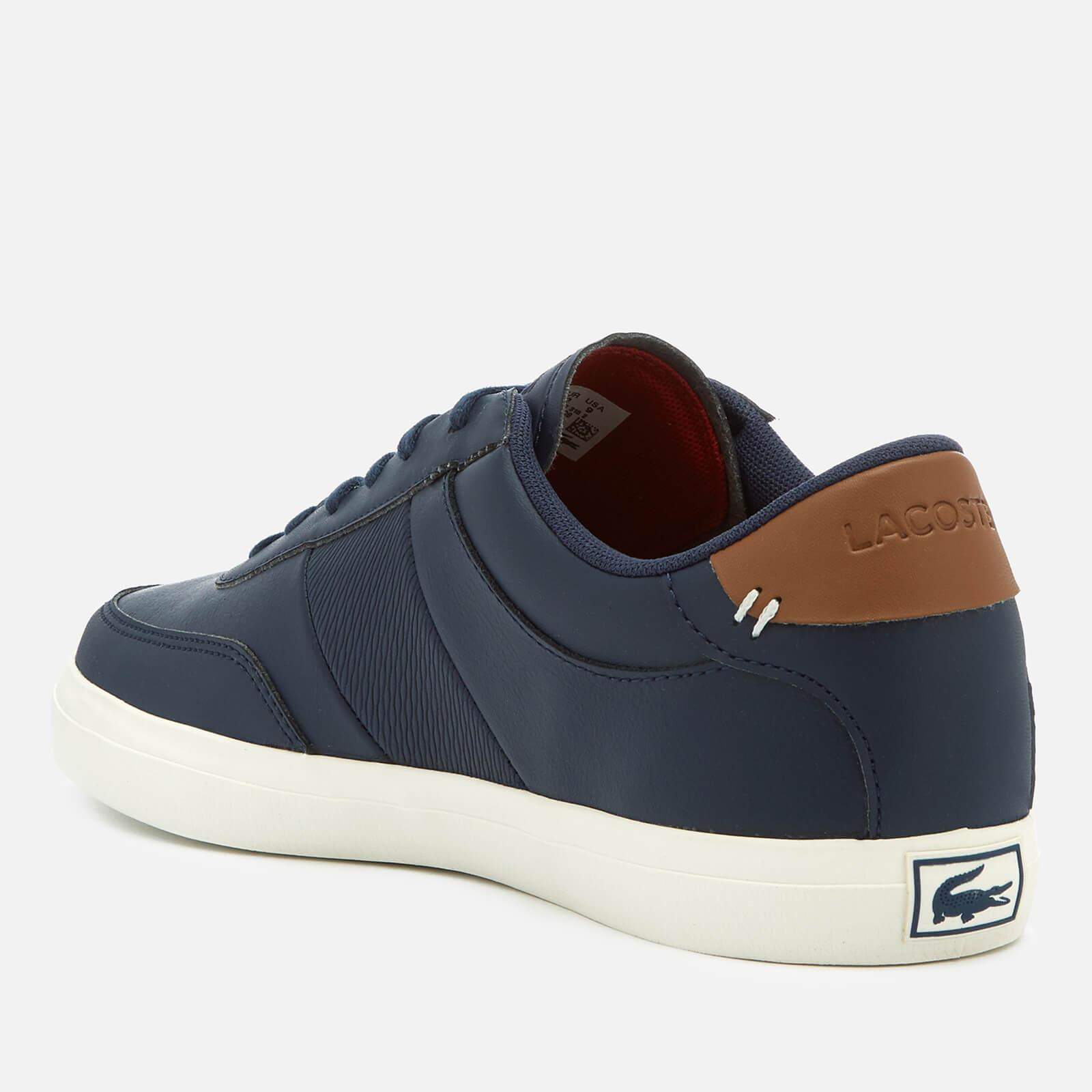 158148580 Lacoste Court-master 318 2 Leather Vulcanised Trainers in Blue for ...