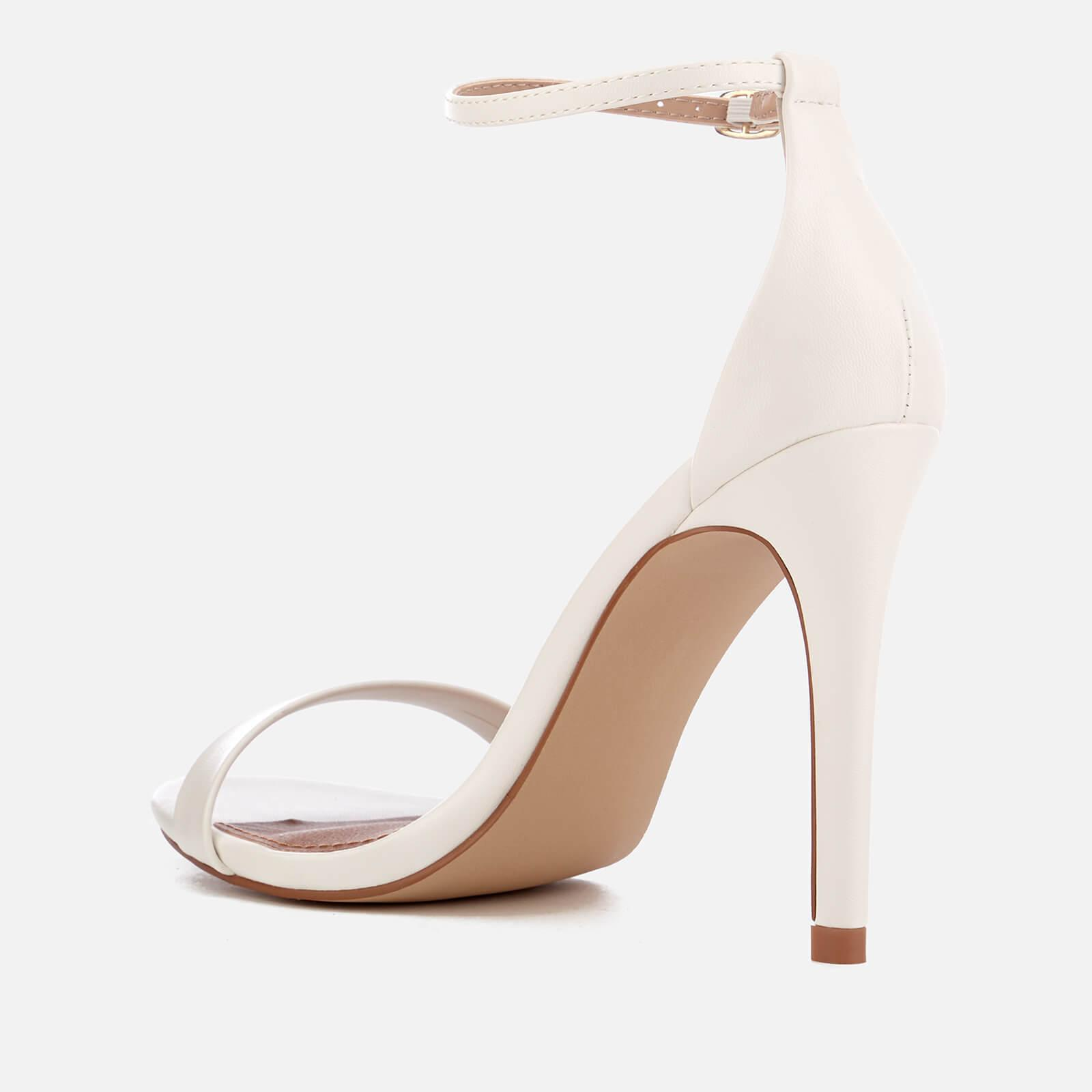 f840e02c3f Steve Madden - White Stecy Barely There Heeled Sandals - Lyst. View  fullscreen