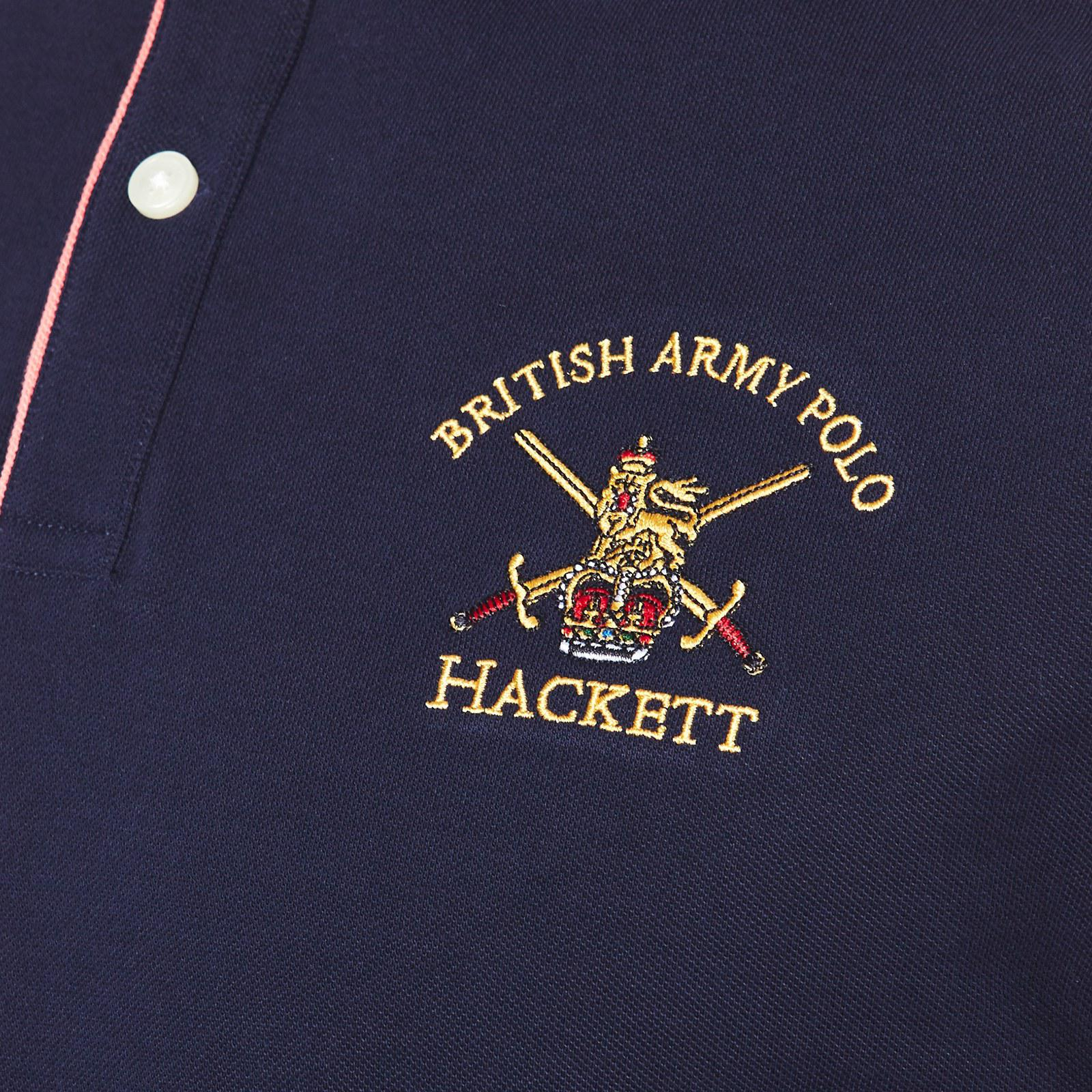 Hackett Cotton Army Pop Tipping Polo Shirt in Blue for Men