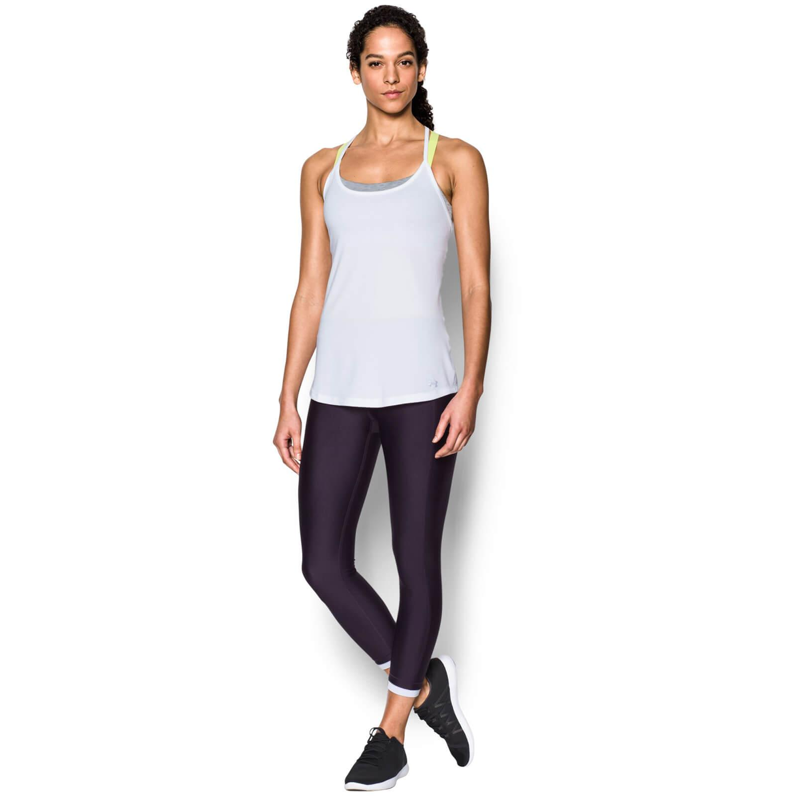48a409c807650 Under Armour - White Fly By Racerback Run Tank - Lyst. View fullscreen
