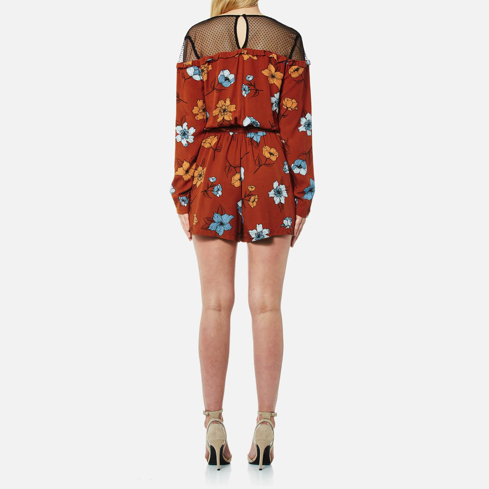 180e23762e Lyst - MINKPINK Ornate Playsuit in Red - Save 27.272727272727266%