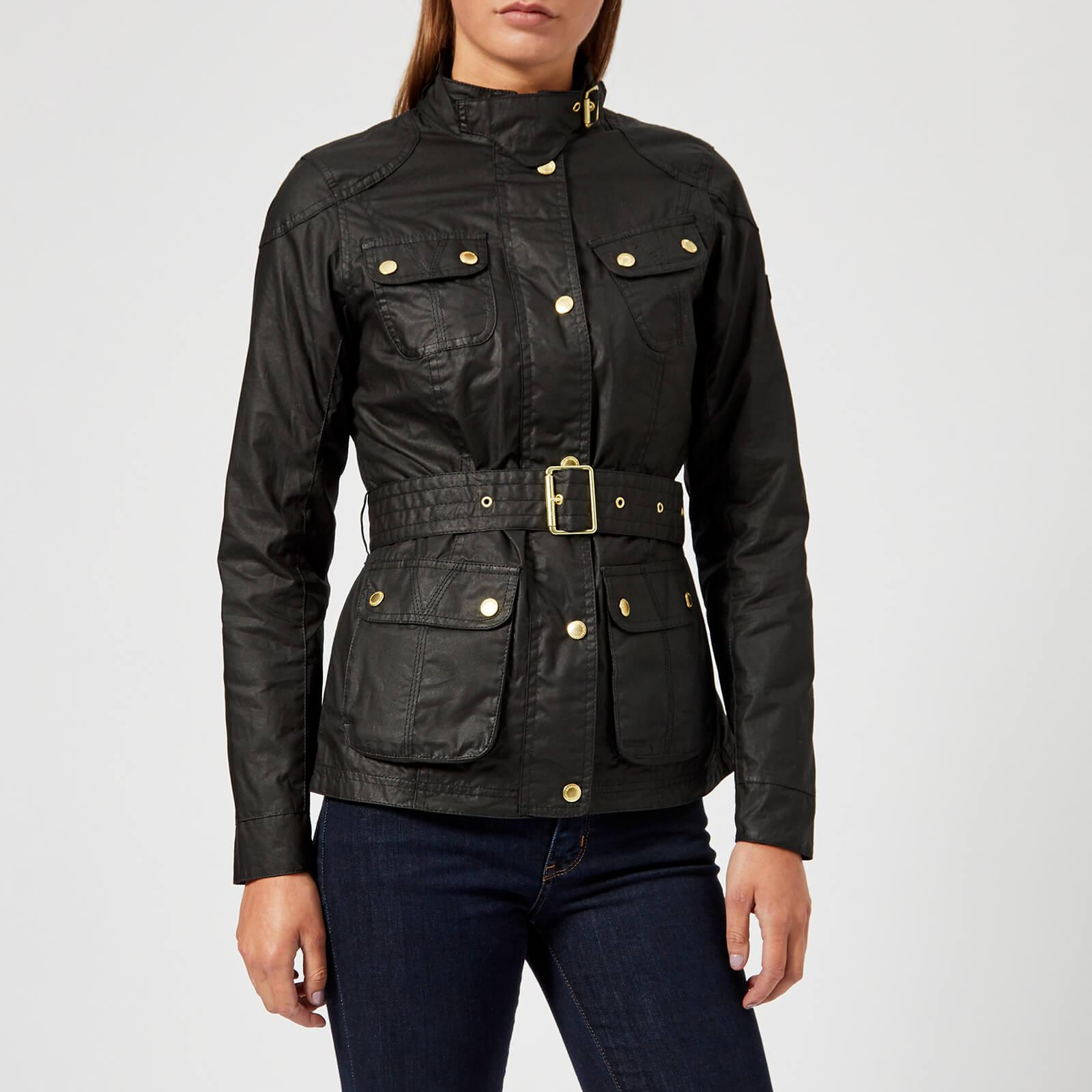 Barbour Cotton International Anglesey Wax Jacket In Black