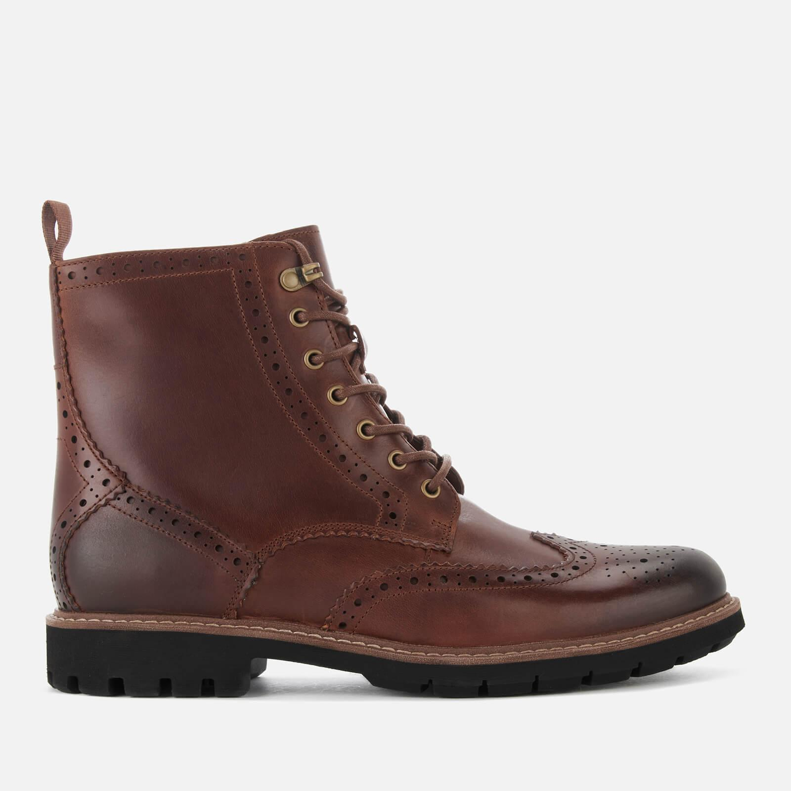 Batcombe Lord Leather Brogue Lace Up Boots