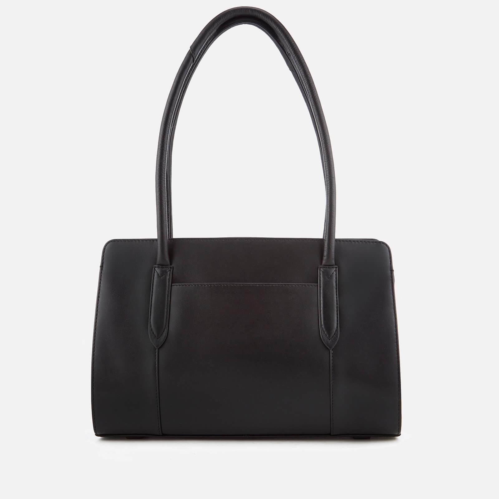 Radley Leather Liverpool St Disc Medium Ziptop Tote Bag in Black