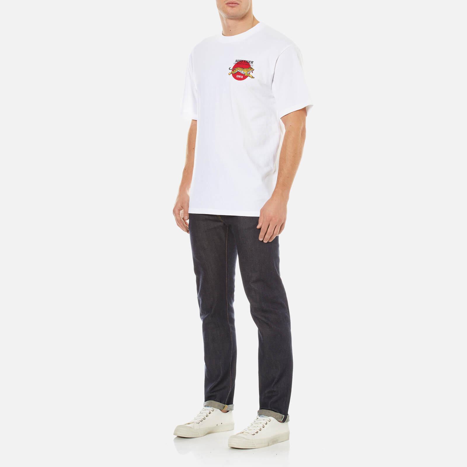 Edwin Men's Ed80 Slim Tapered Rainbow Selvedge Denim Jeans in Blue for Men