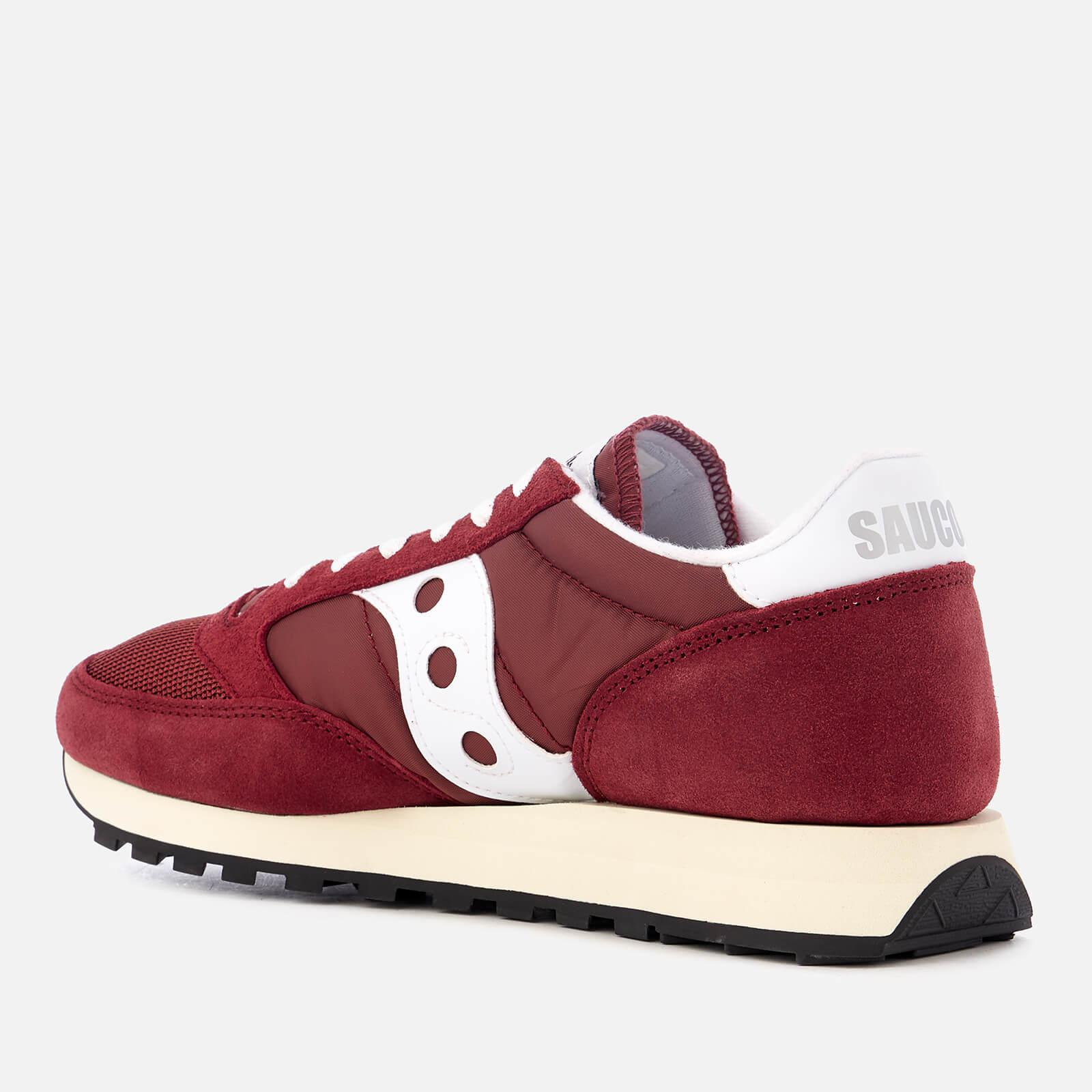 Saucony Suede Jazz Lowpro Sneaker in Burgundy/White (Red)