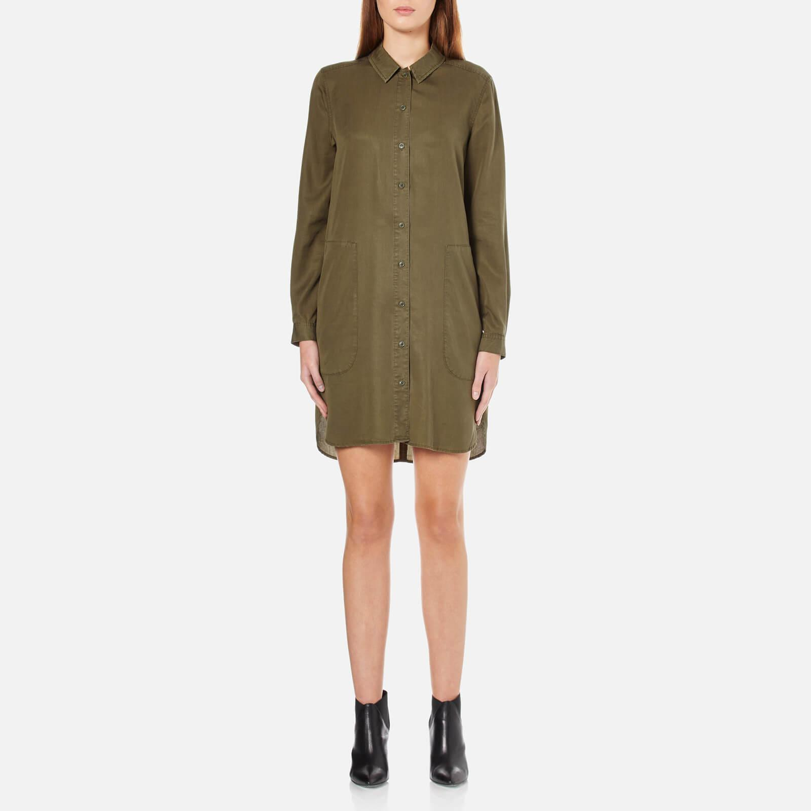 Lyst french connection military tencel shirt dress in green for French connection shirt dress