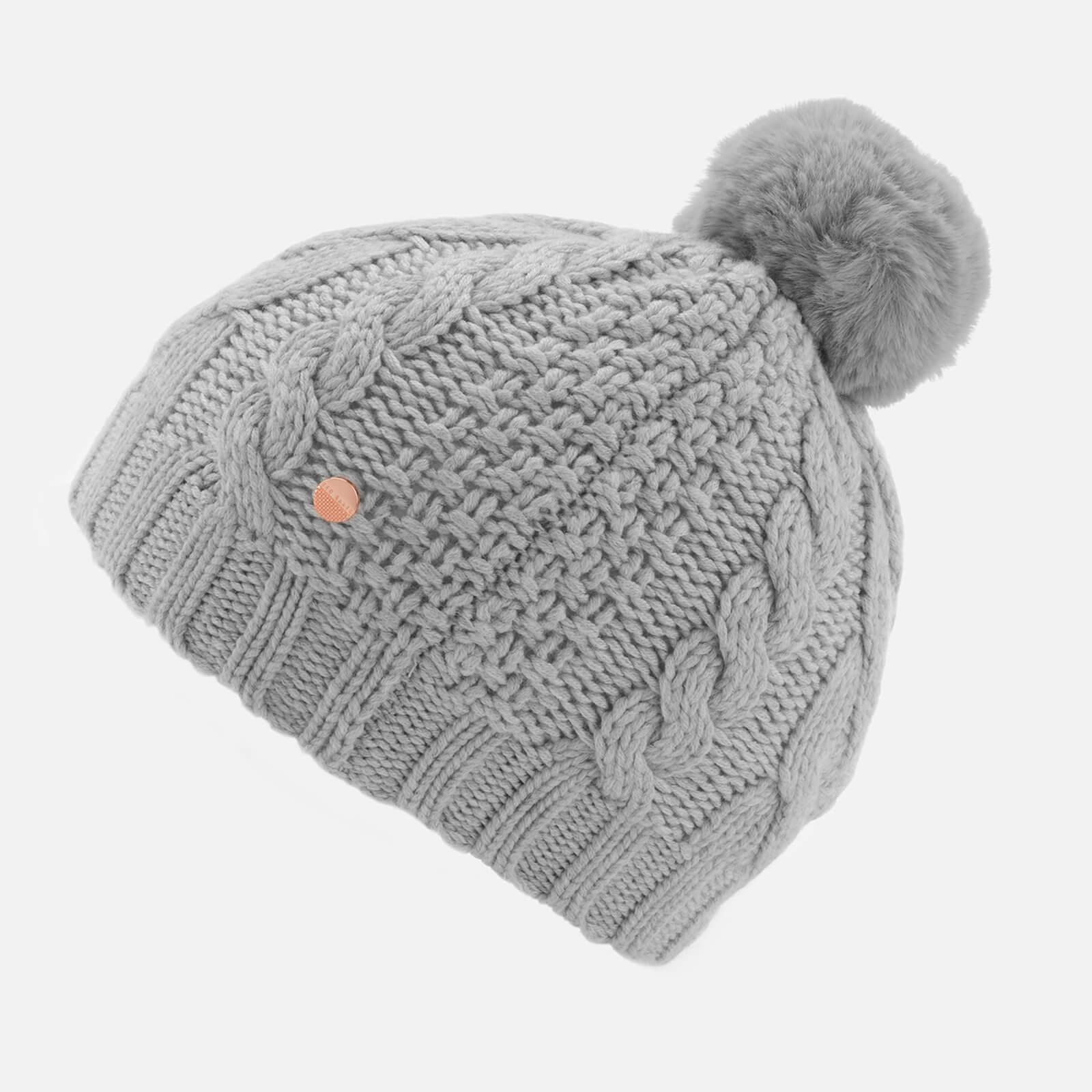 e4e5f81d8 Women's Gray Quirsa Cable Knit Pom Hat