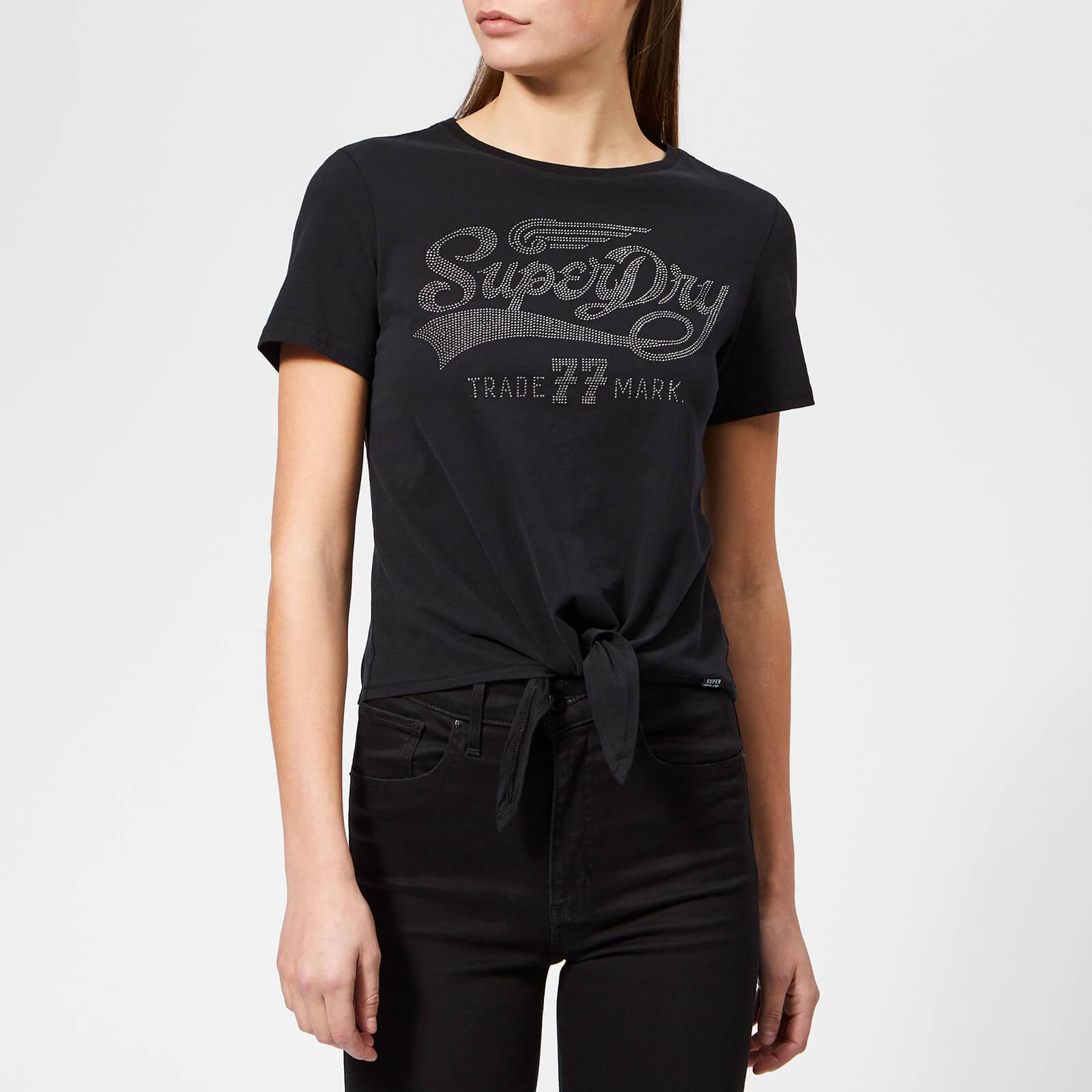 5a17f97e Lyst - Superdry Deluxe 77 Knot Front T-shirt in Black