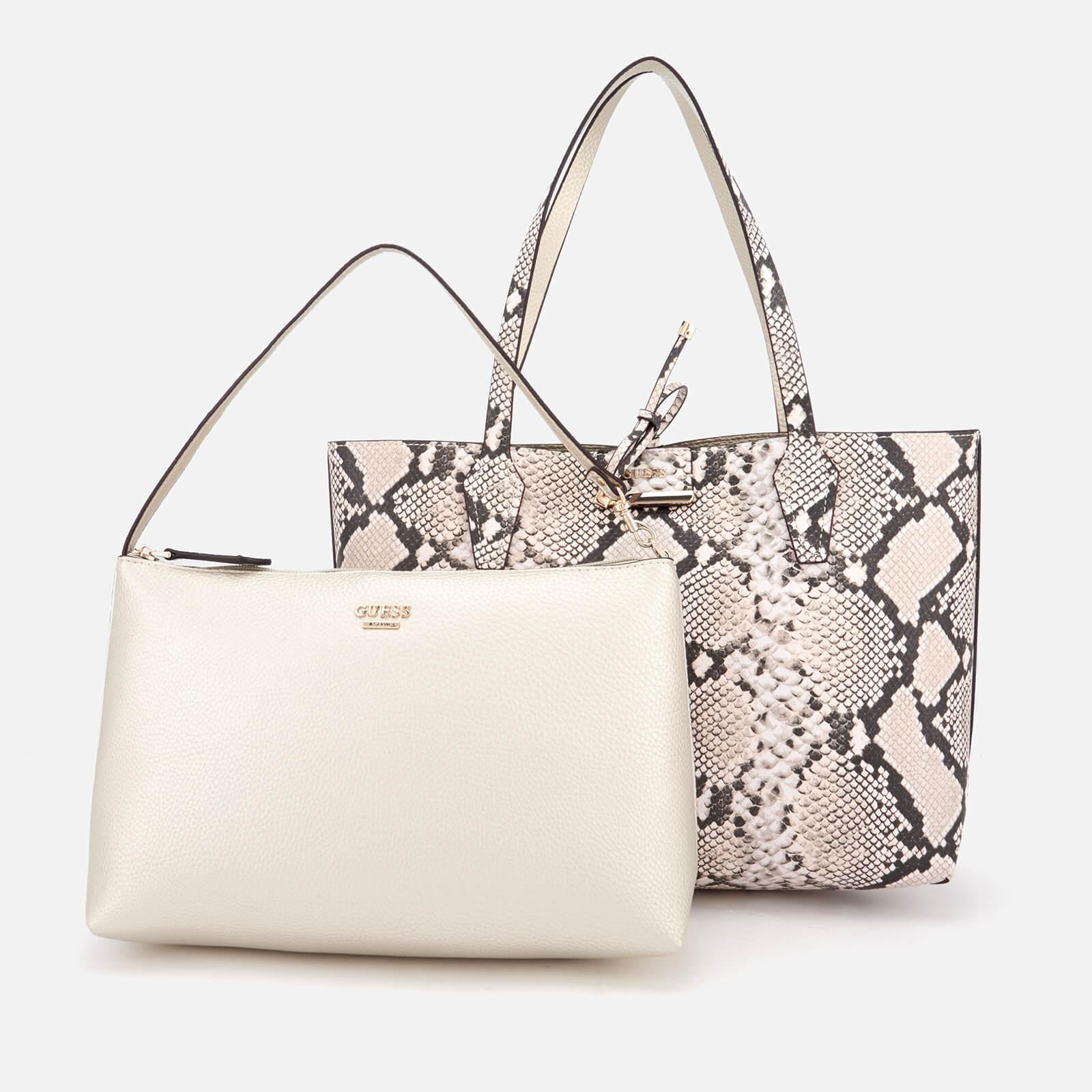 Guess Synthetic Bobbi Inside Out Tote Bag