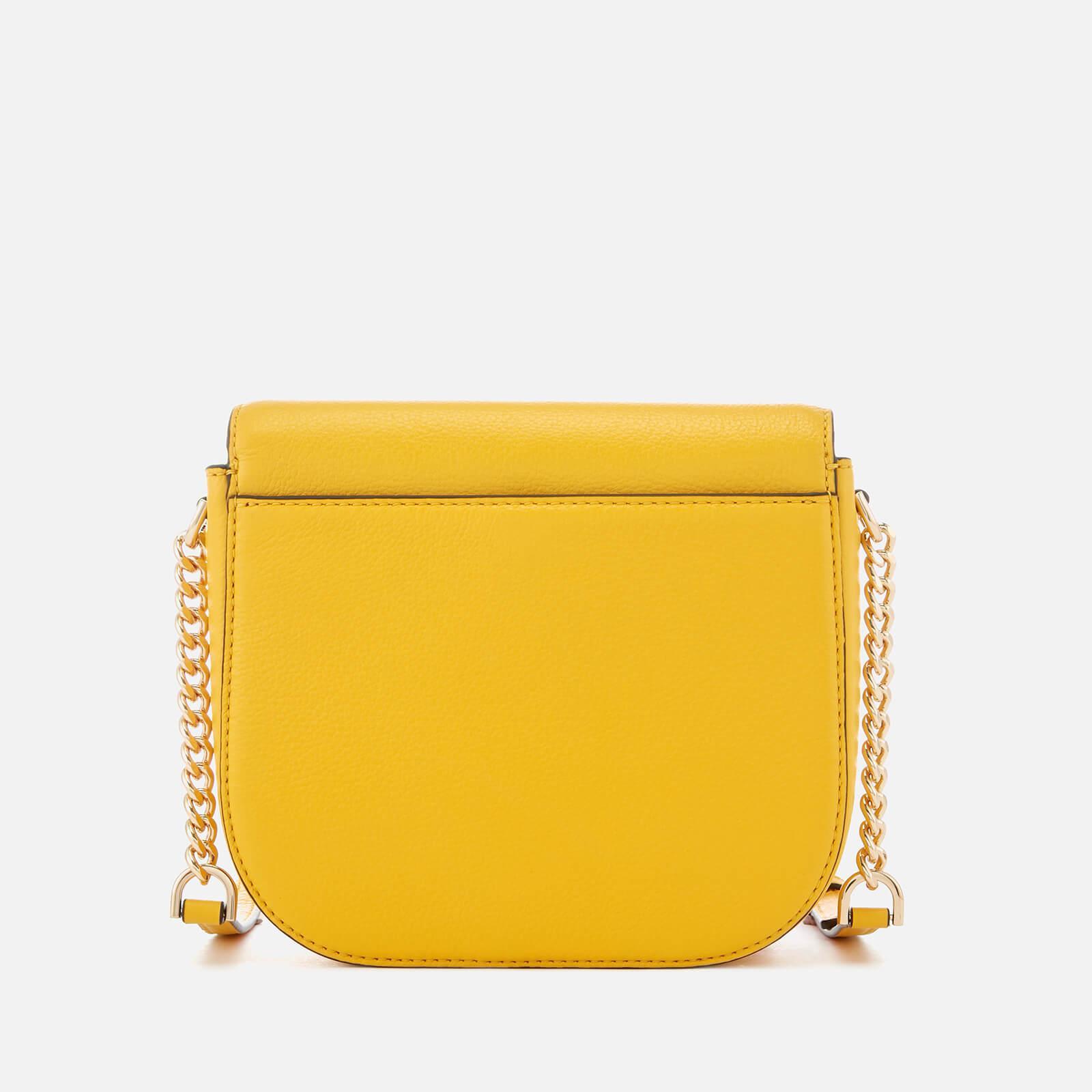 MICHAEL Michael Kors Leather Half Dome Cross Body Bag in Yellow