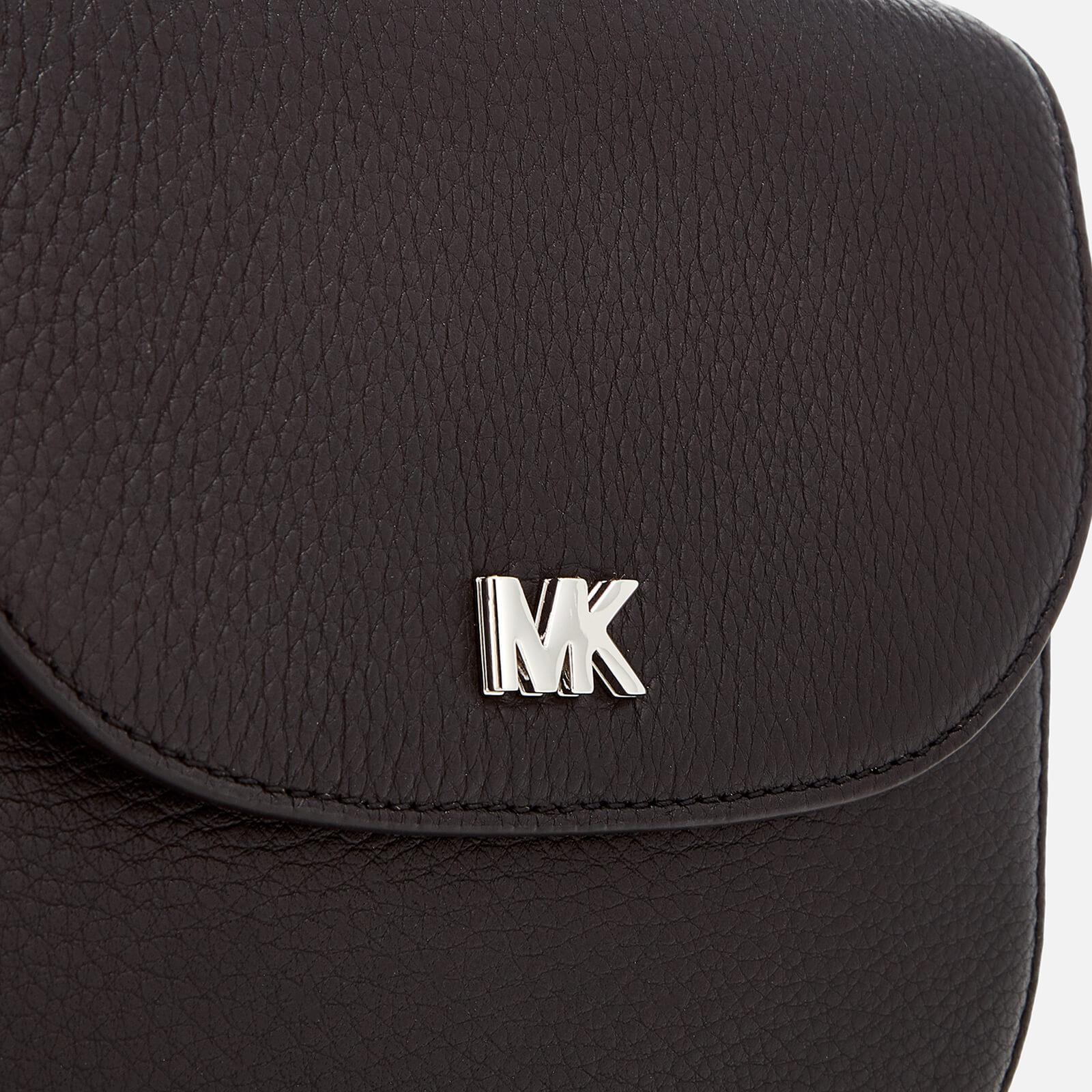 MICHAEL Michael Kors Leather Half Dome Cross Body Bag in Black