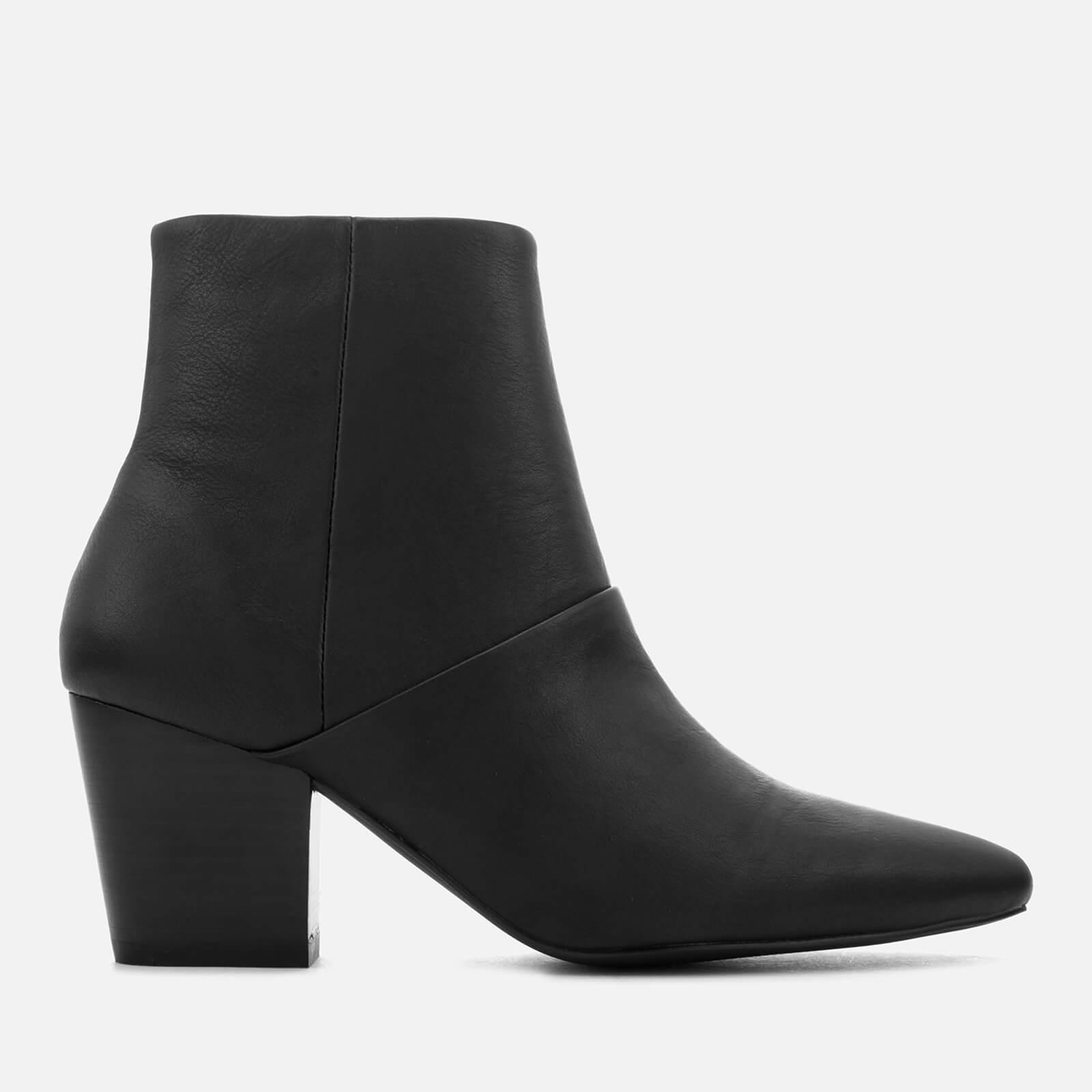 9f34f0946092 Sol Sana Chrissy Leather Heeled Ankle Boots in Black - Lyst