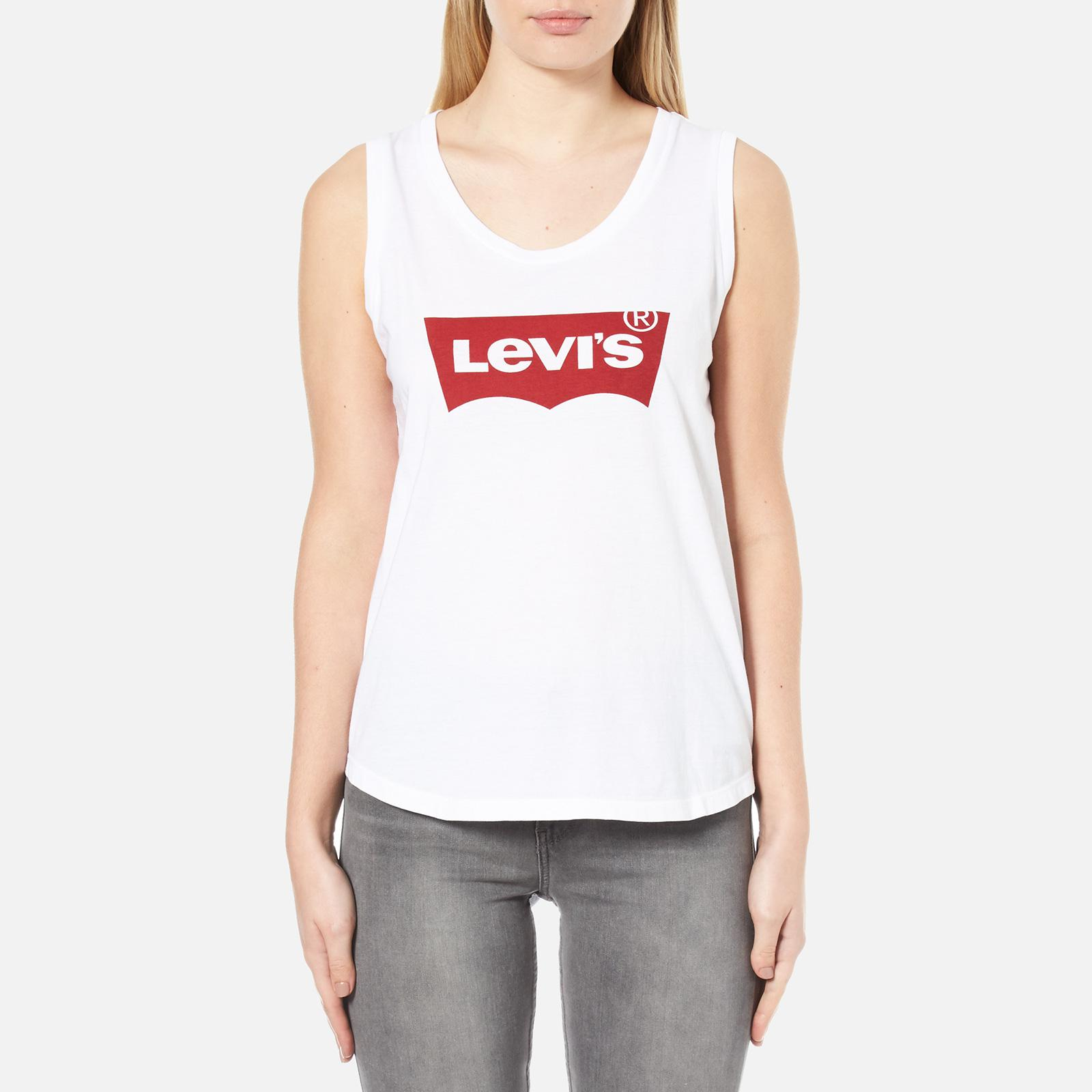 1c5f890d46291d Lyst - Levi s The Muscle Tank Top in White