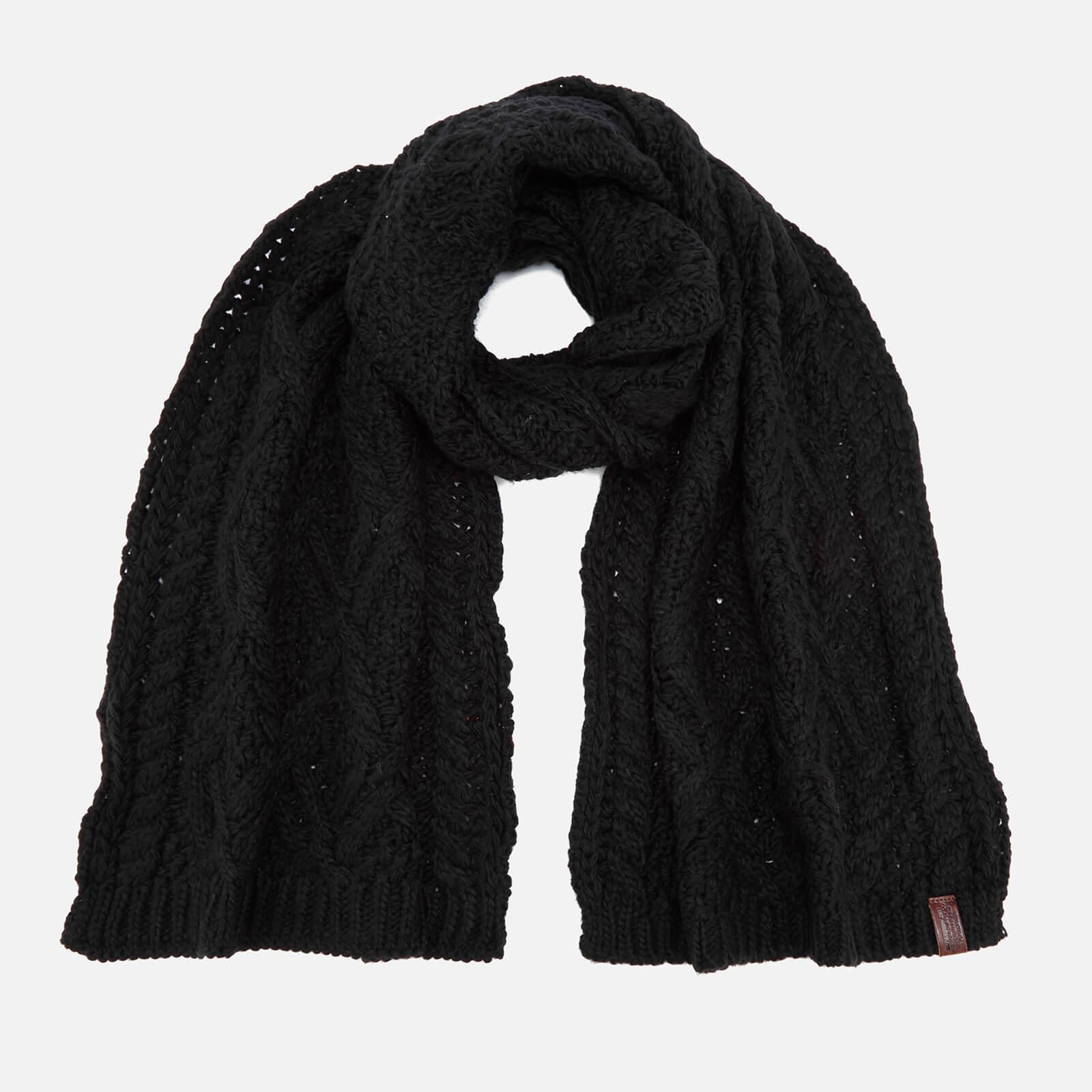 Lyst Superdry Nebraska Cable Scarf In Black