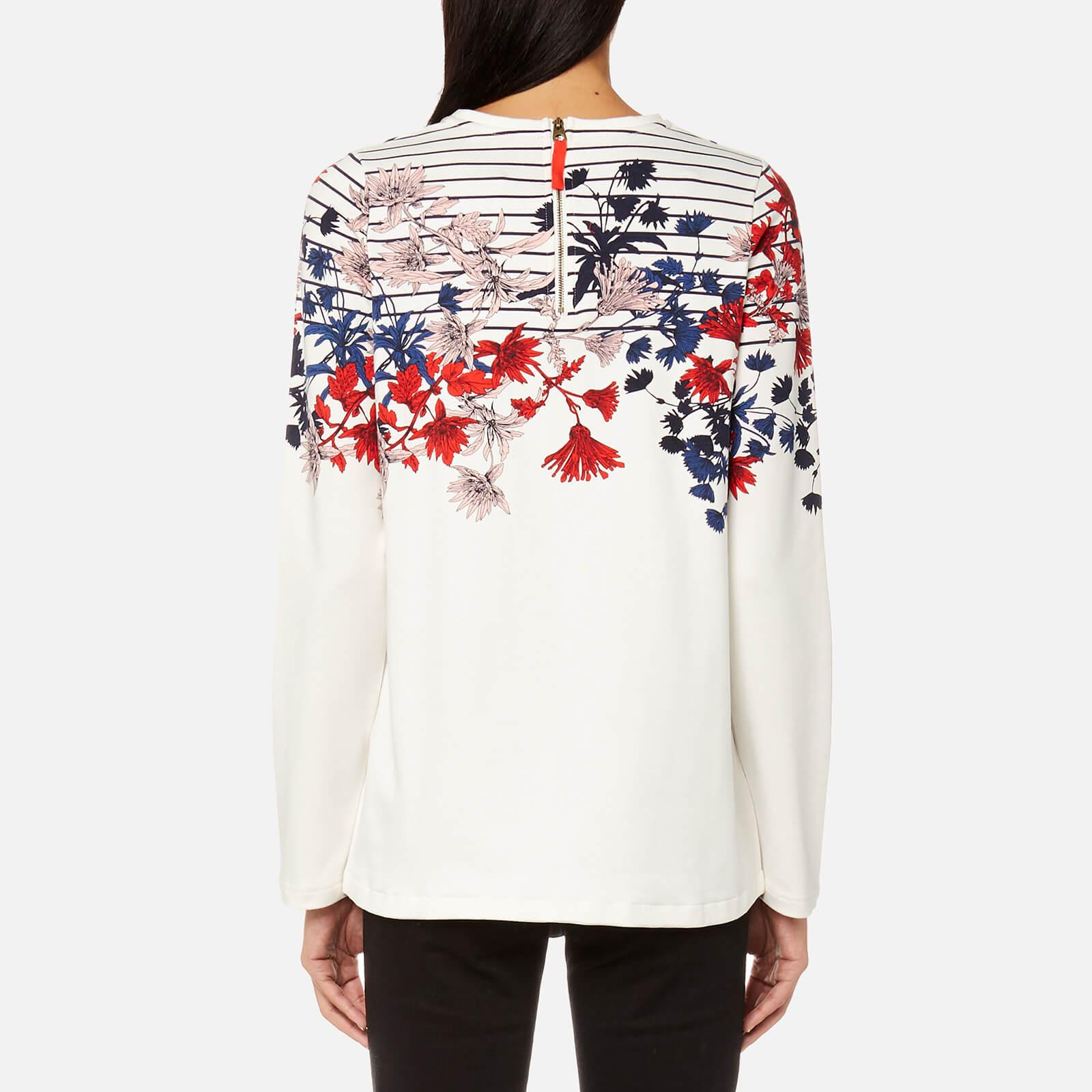 Joules Cotton Clemence Printed Crew Neck Sweatshirt