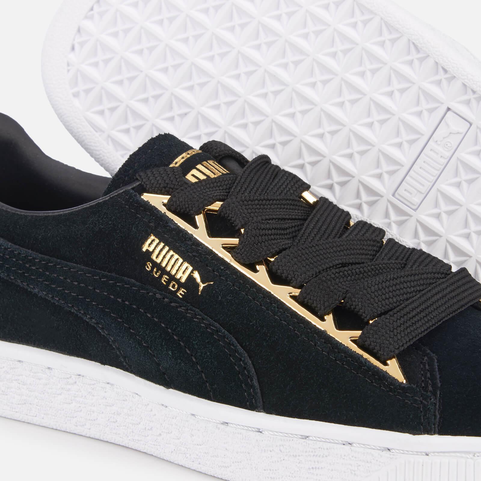 best authentic ab75e 4ffd1 Women's Black Suede Jewel Metallic Sneakers