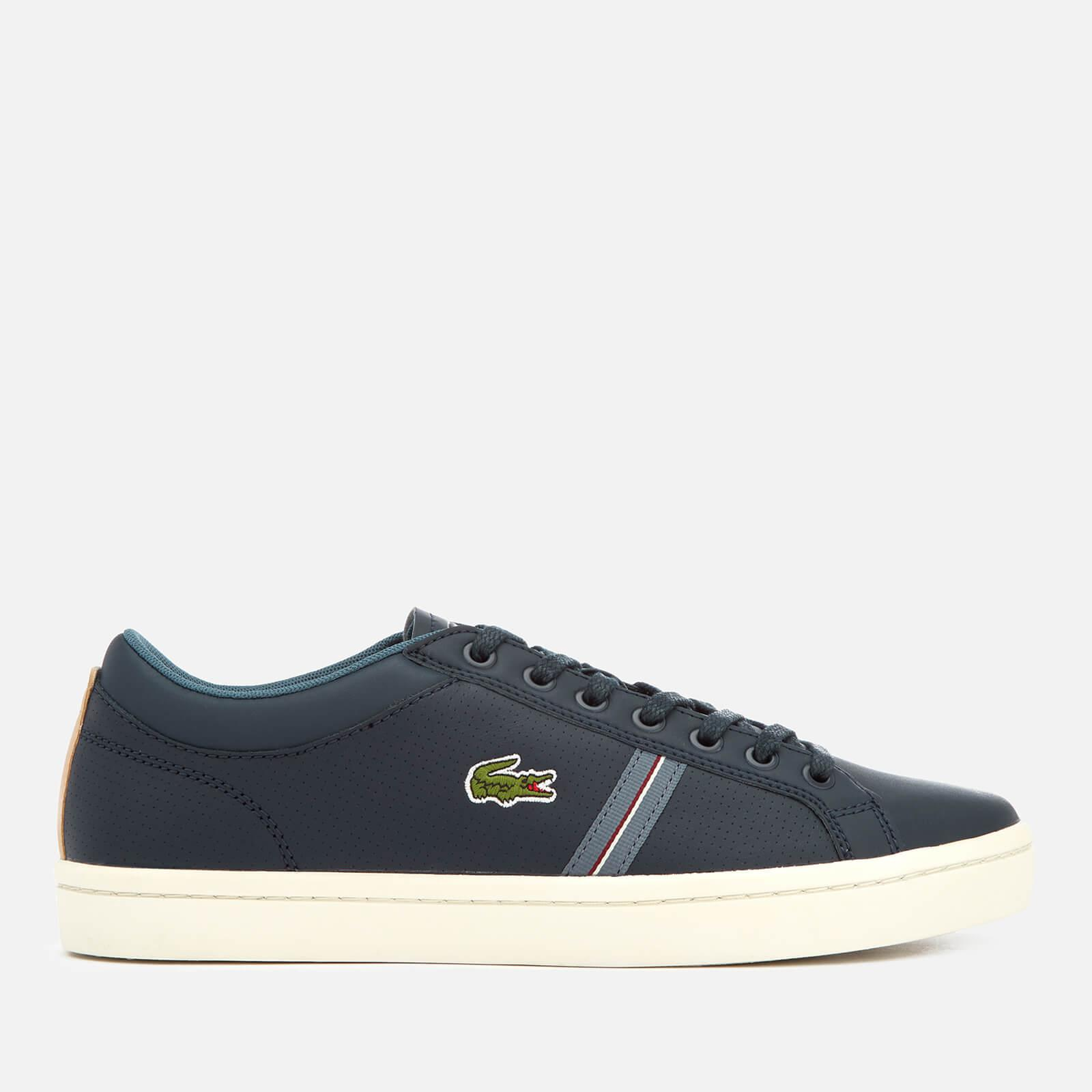 13c85b4ac425cb Lyst - Lacoste Straightset Sport 318 1 Leather Trainers in Blue for Men