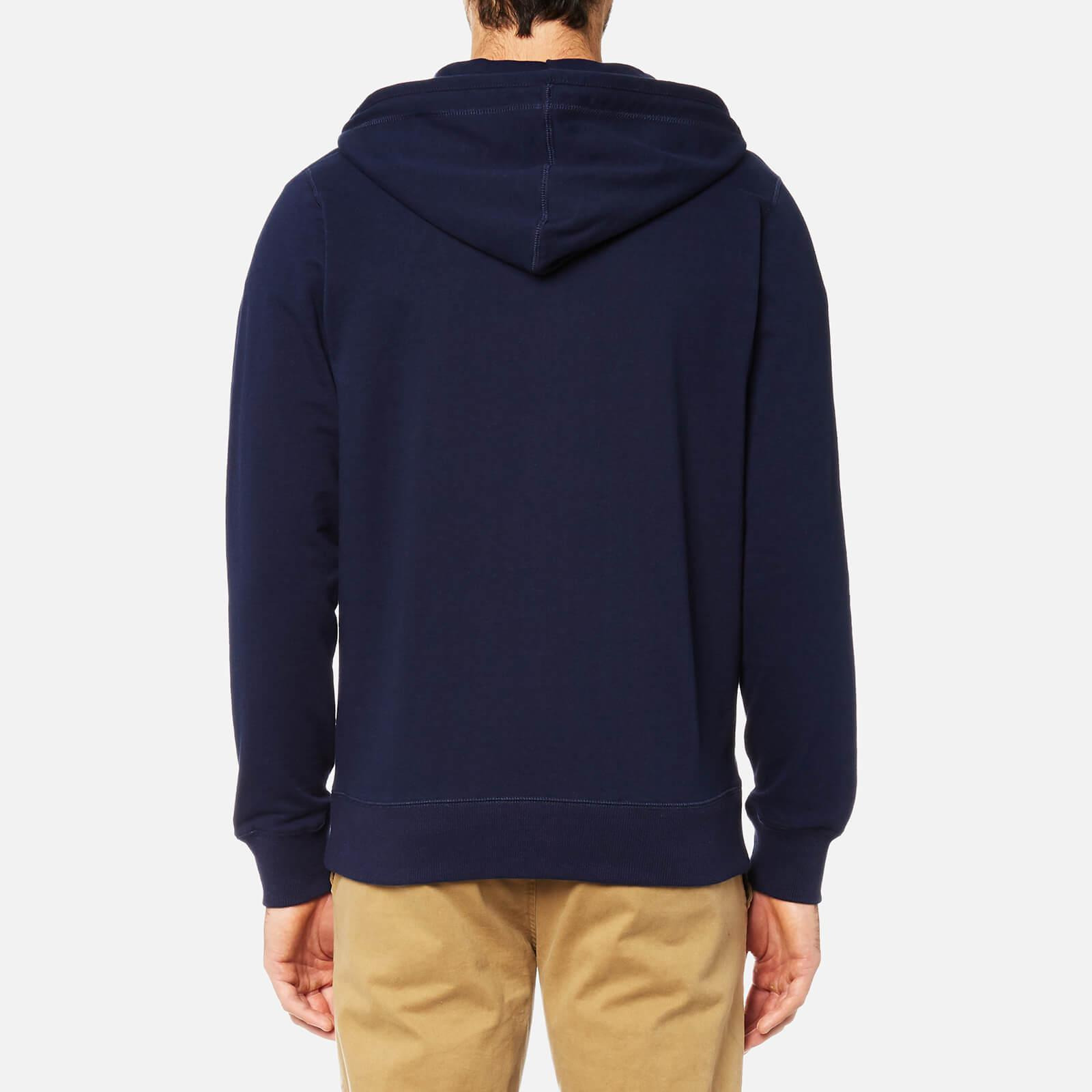 Joules Cotton Coloured Loopback Zip Through Hoody in Blue for Men