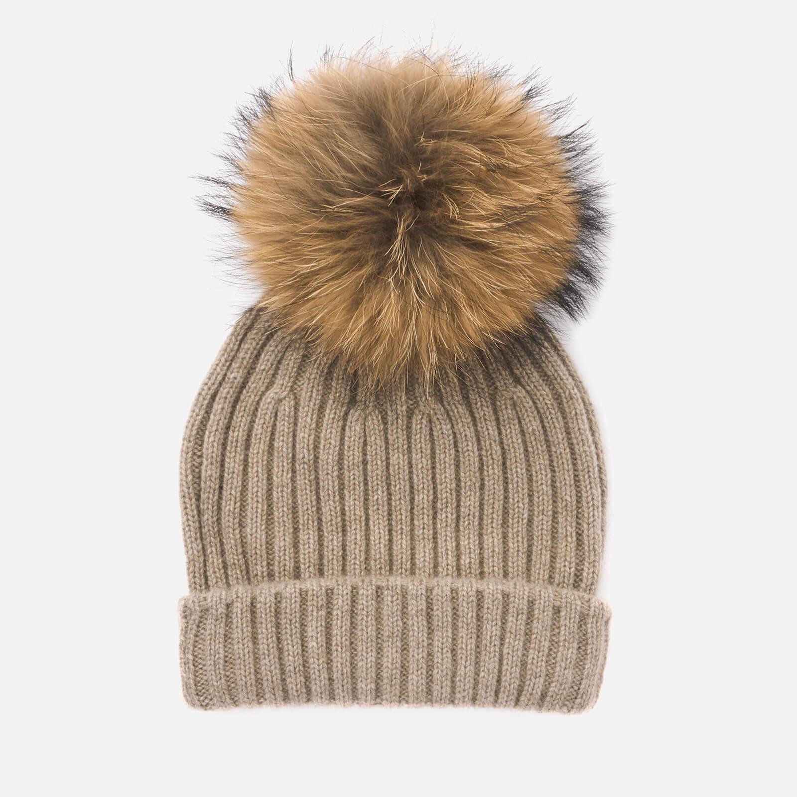 5caf913e918 BKLYN. Women s Cashmere Pom Pom Hat