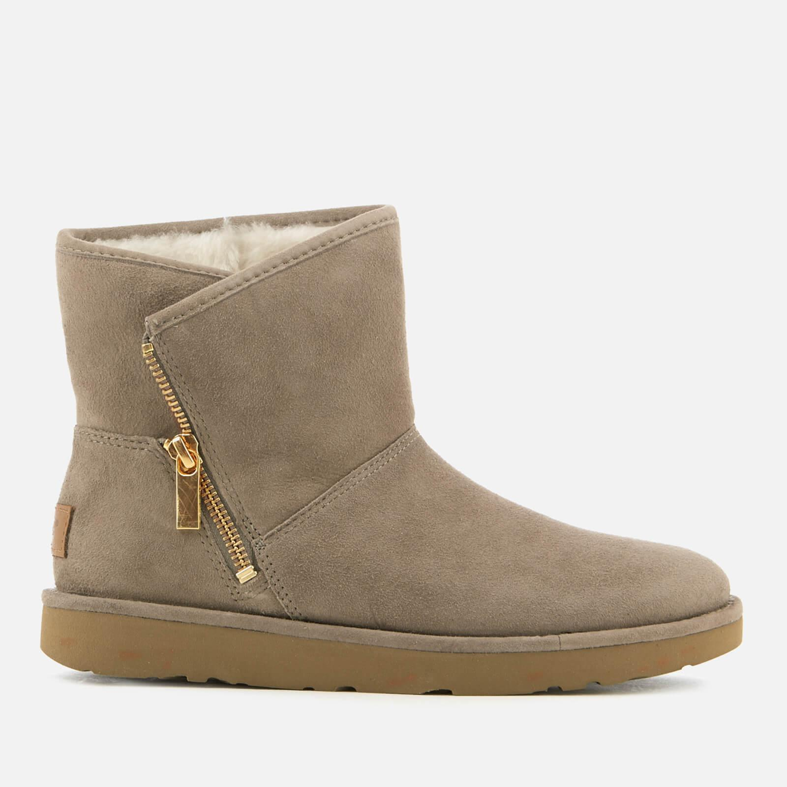 Ugg Kip Suede Zip Side Boots In Grey Gray Lyst