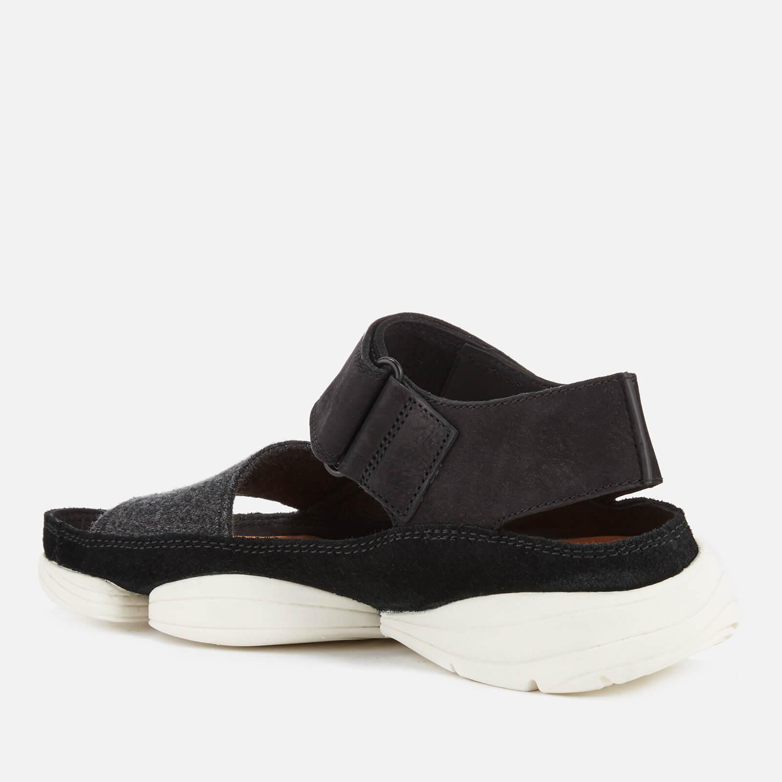 Clarks - Black Trigenic Evo S Nubuck Sandals - Lyst. View fullscreen f4ce55fddf6