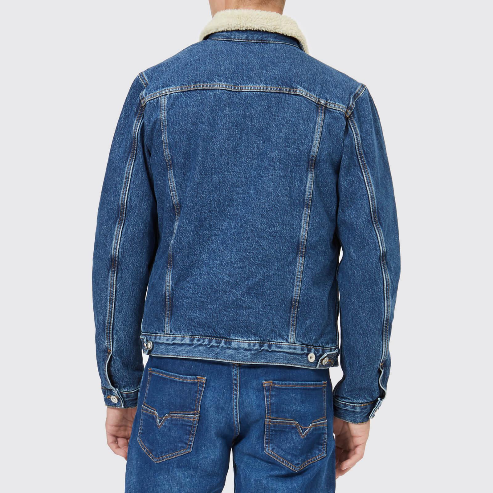 f5ba7433f2634 DIESEL - Blue D-gioc-fur Denim Jacket for Men - Lyst. View fullscreen