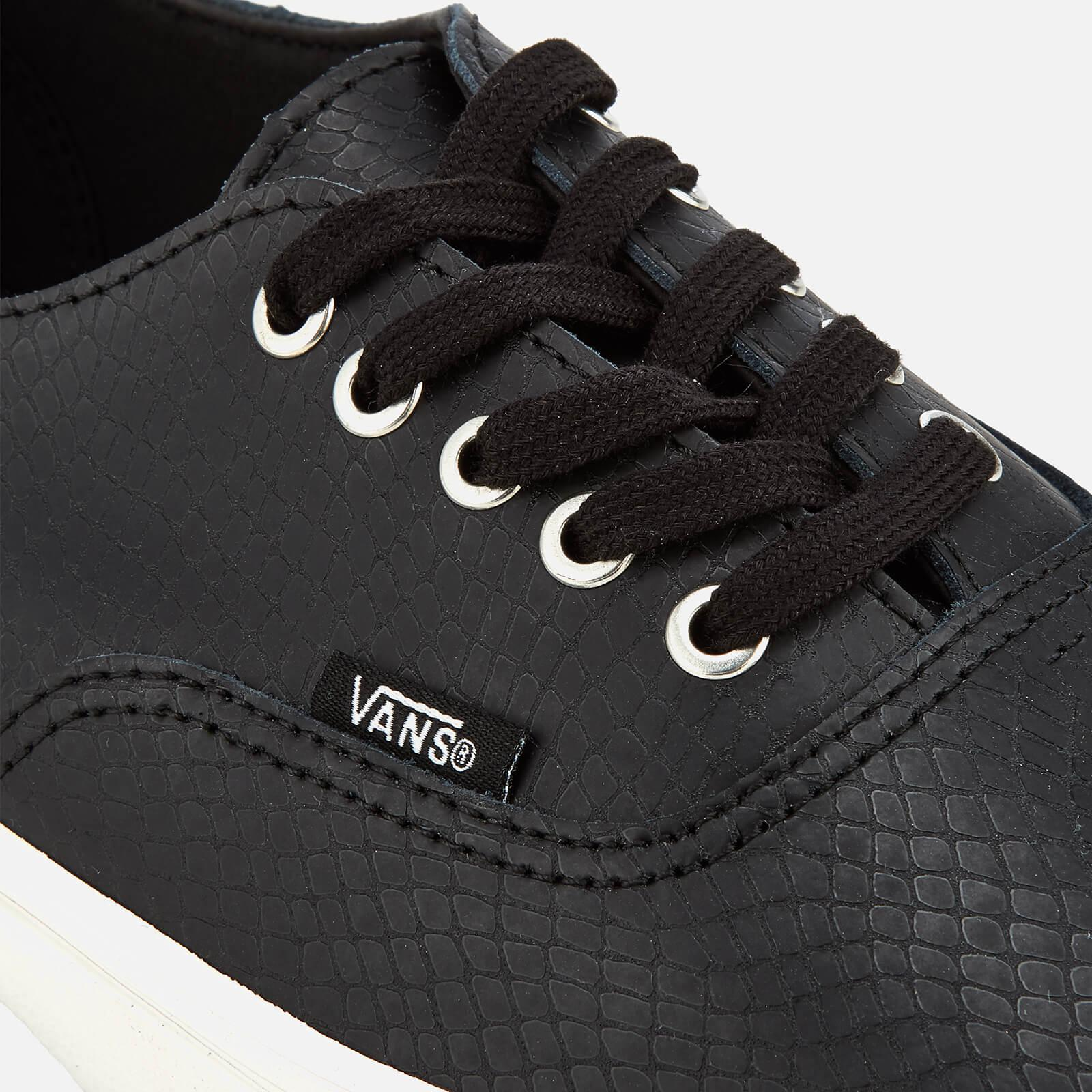 280dc3eee7a Vans Authentic Decon Snake Trainers in Black for Men - Lyst