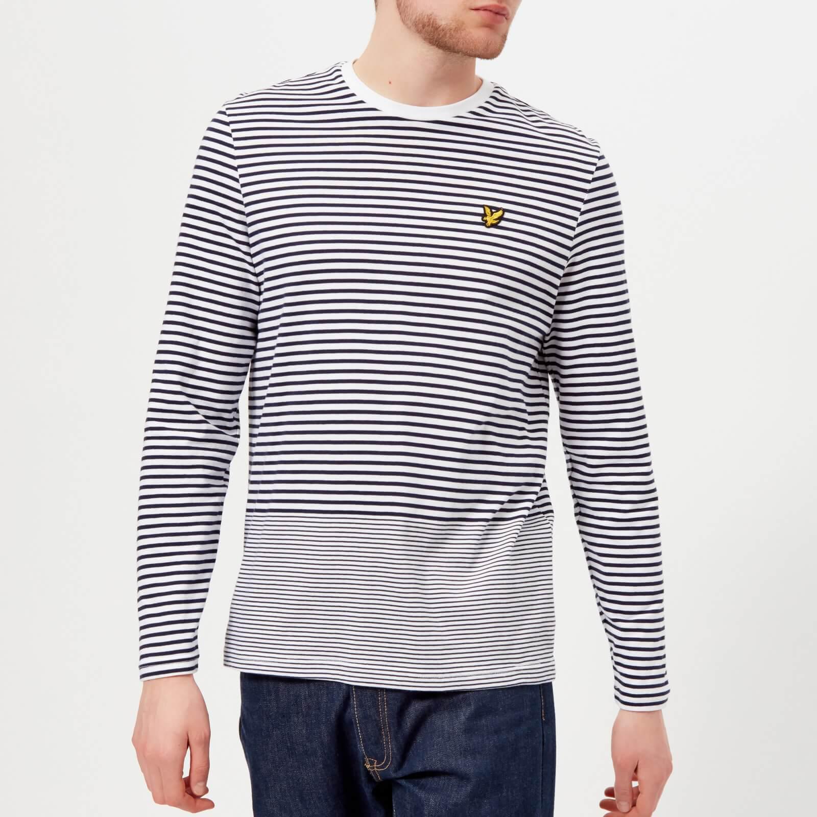 e6535028d6b Lyst - Lyle   Scott Long Sleeve Stripe T-shirt in Blue for Men