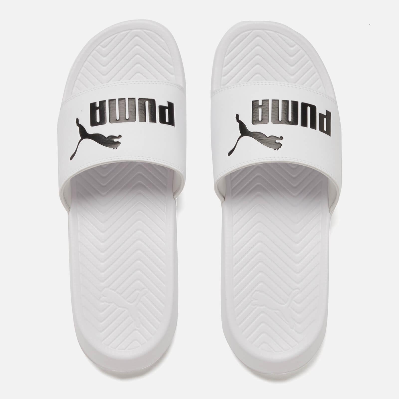 PUMA Men's Popcat Slide Sandals in White for Men - Lyst