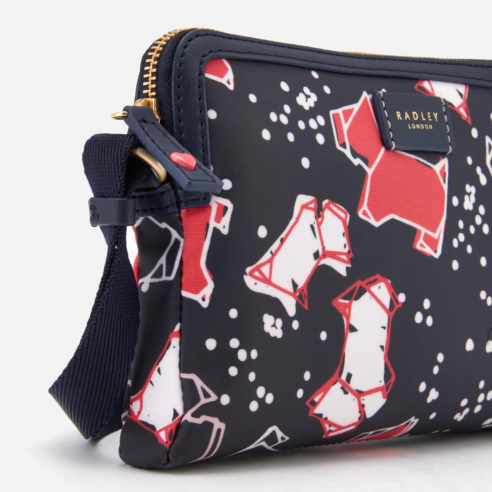 Radley Cotton Speckle Dog Small Zip-top Cross Body Bag