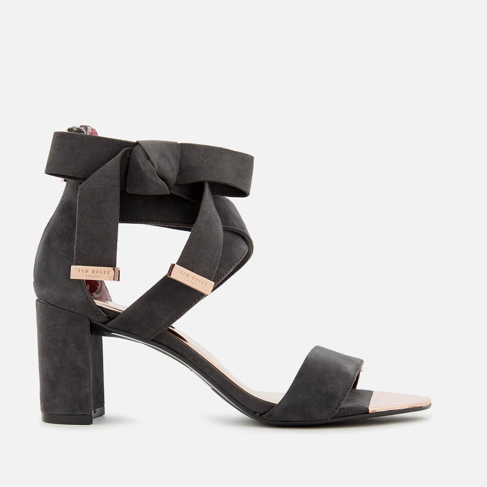 13664e7d40ccde Lyst - Ted Baker Noxen 2 Suede Block Heeled Sandals in Gray