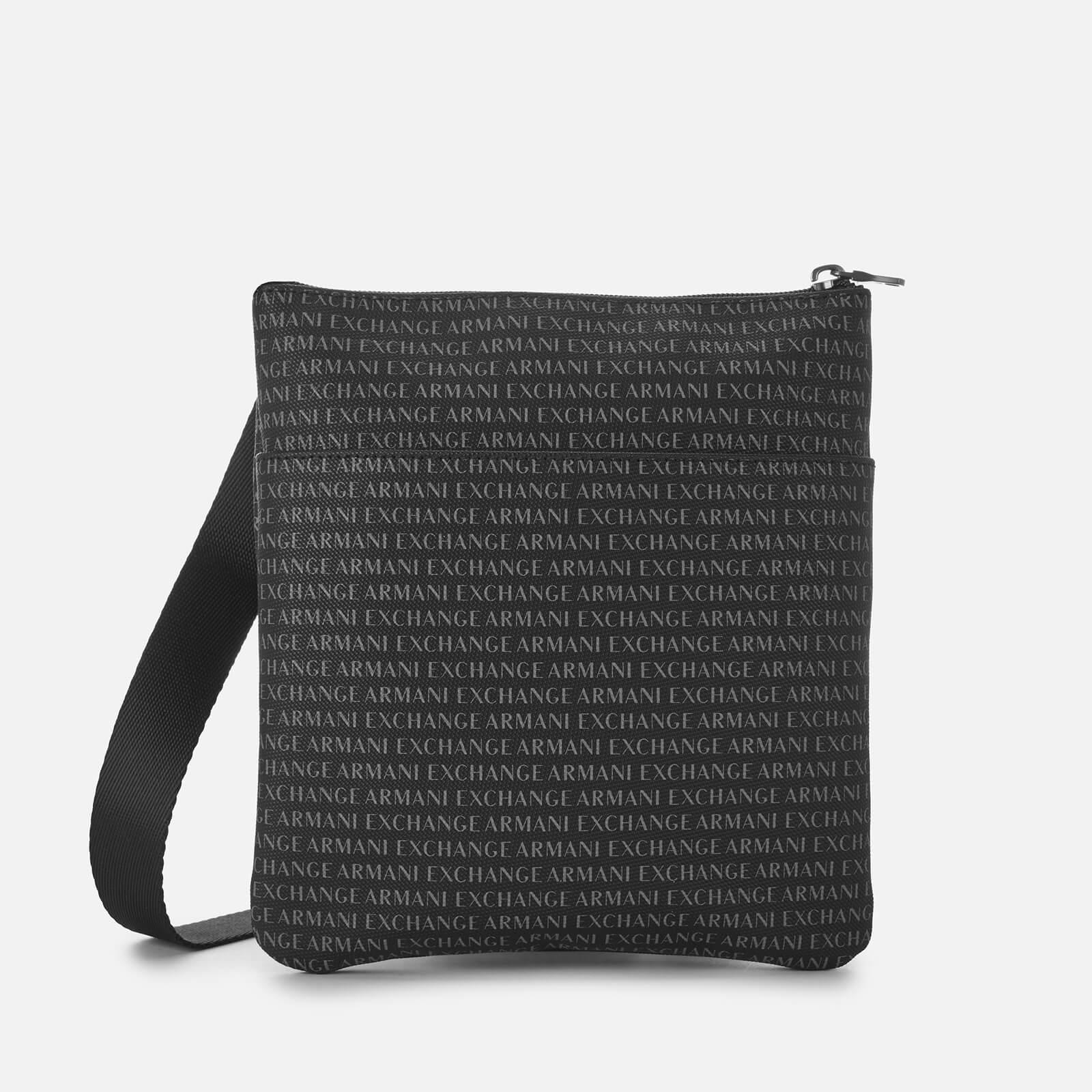 11d4a447a05c Armani Exchange All Over Print Cross Body Bag in Black for Men - Lyst