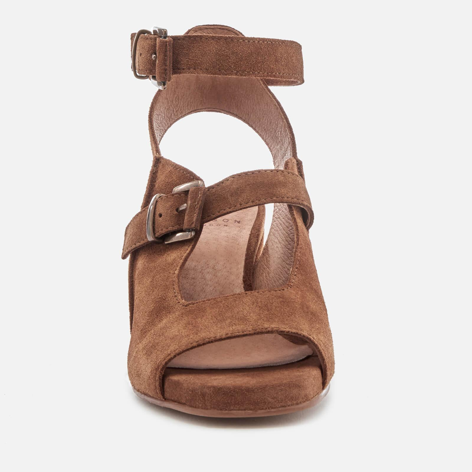 In Brown By Rona Sandals Heeled Hudson Suede H Lyst EDW29HI