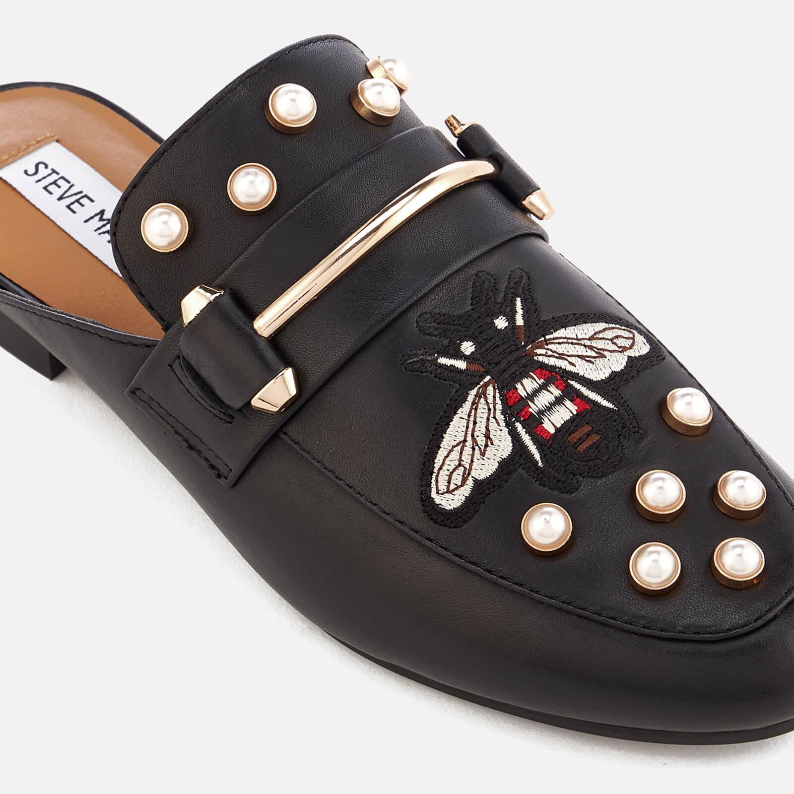 b105ec7c51e Steve Madden Black Kera-b Leather Slide Loafers