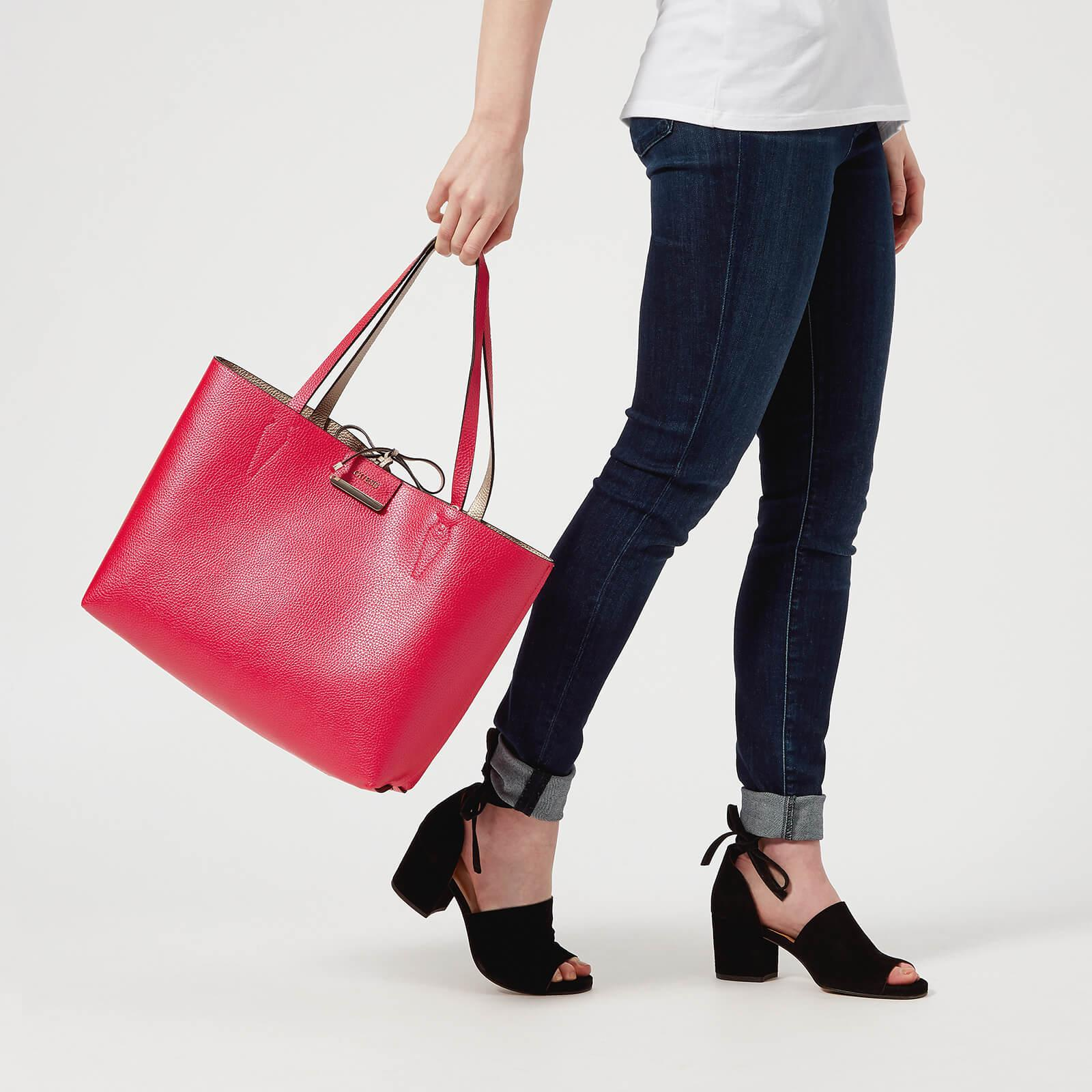 Guess Leather Bobbi Inside Out Tote Bag