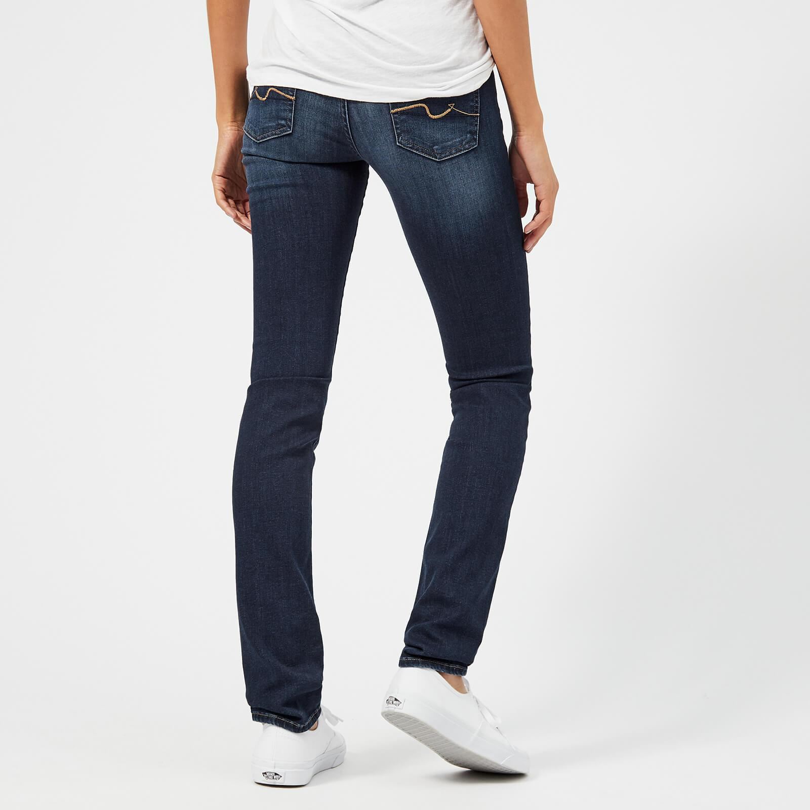 7 For All Mankind Denim Mid Rise Roxanne Jeans in Blue