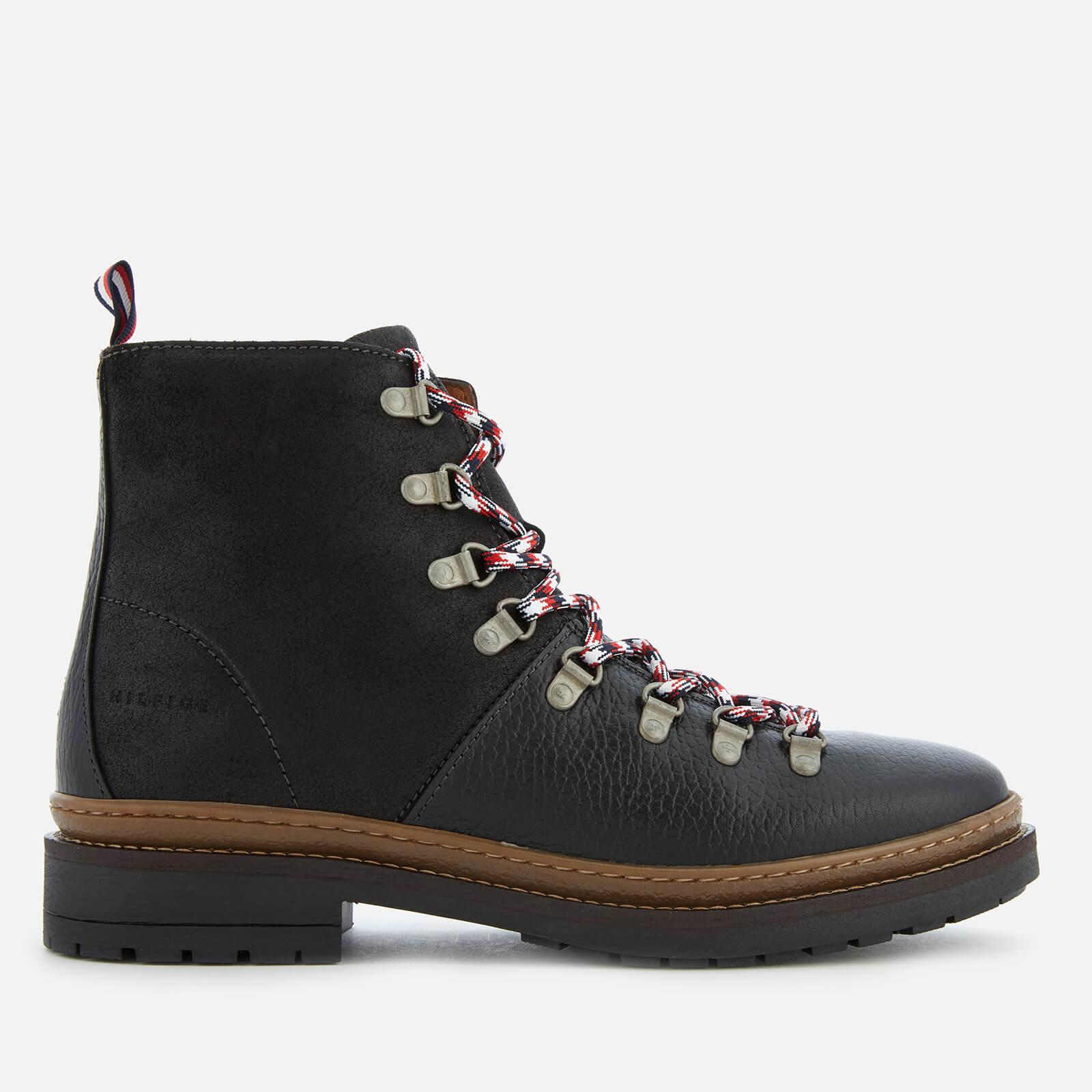 1fc06da85 Tommy Hilfiger Elevated Outdoor Leather Hiking Boots in Black for ...