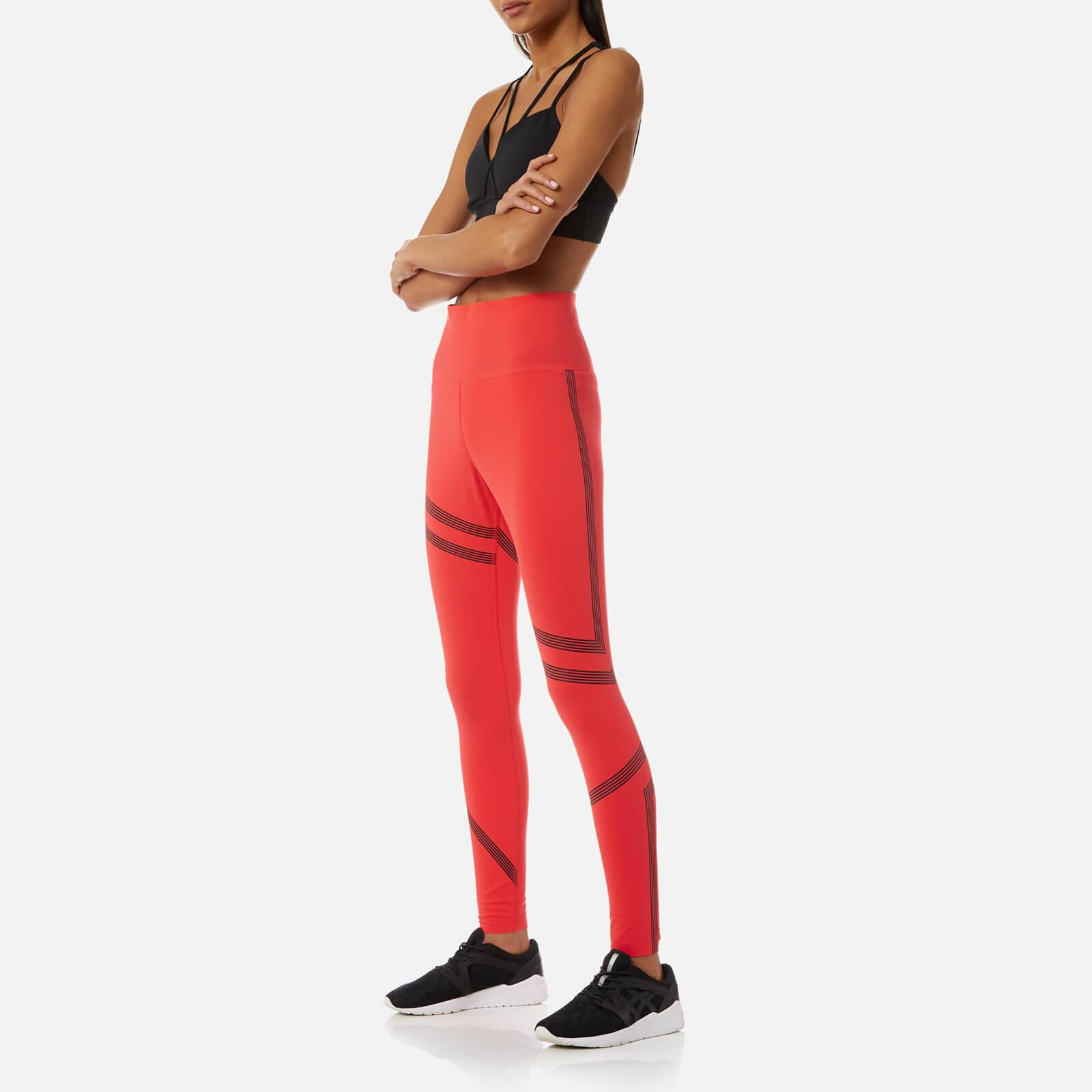acacbb76de12e ... Reebok - Red Linear High Rise Tights - Lyst · Visit The Hut. Tap to  visit site