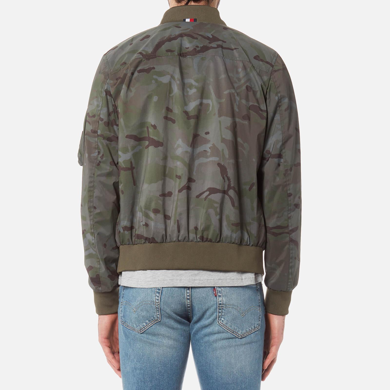 e8c699fb6 Tommy Hilfiger Green Camo Bomber Jacket for men