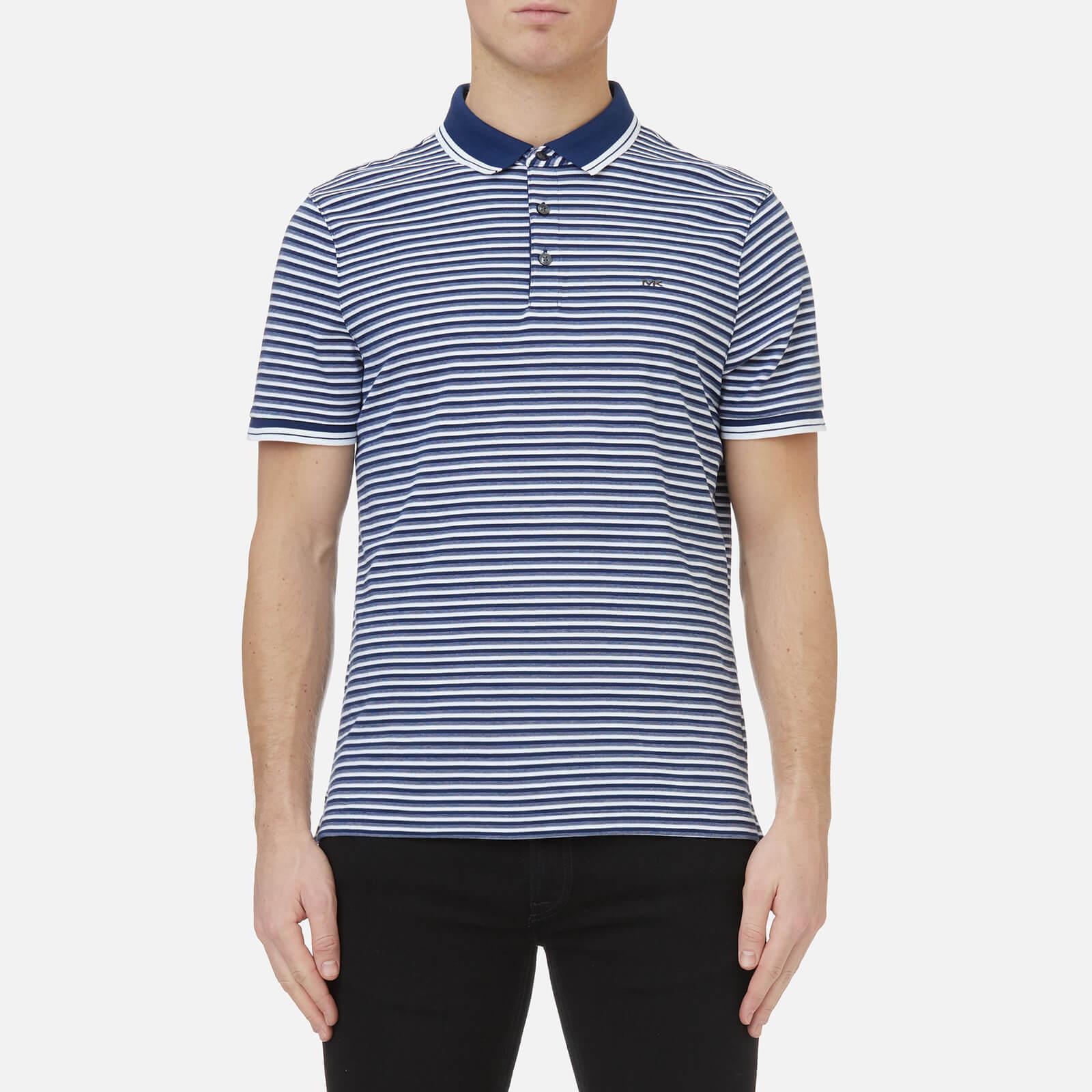 Mens Greenwich Jacquard Collar Polo Shirt