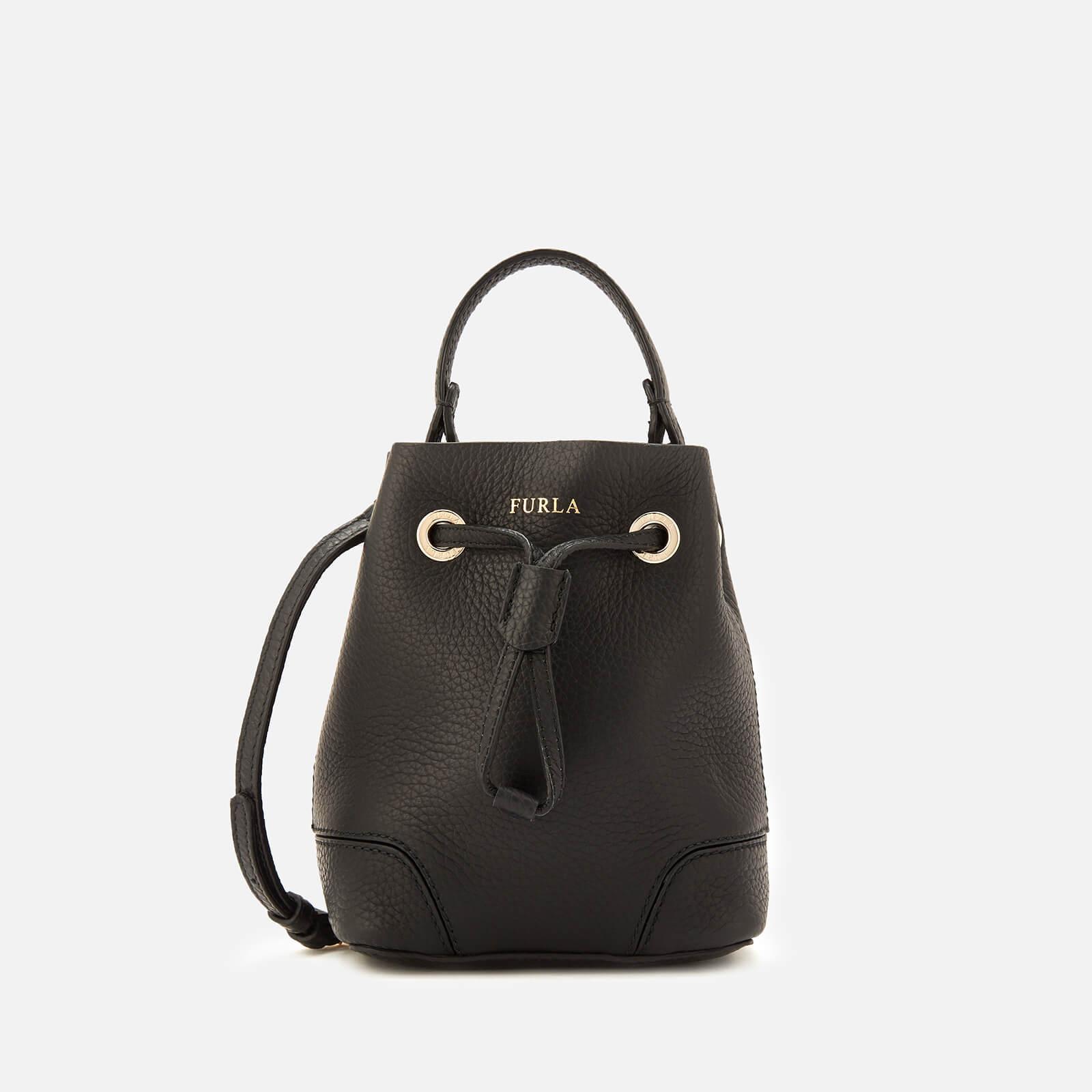 12099b1775c38 Lyst - Furla Stacy Mini Drawstring Bag in Black